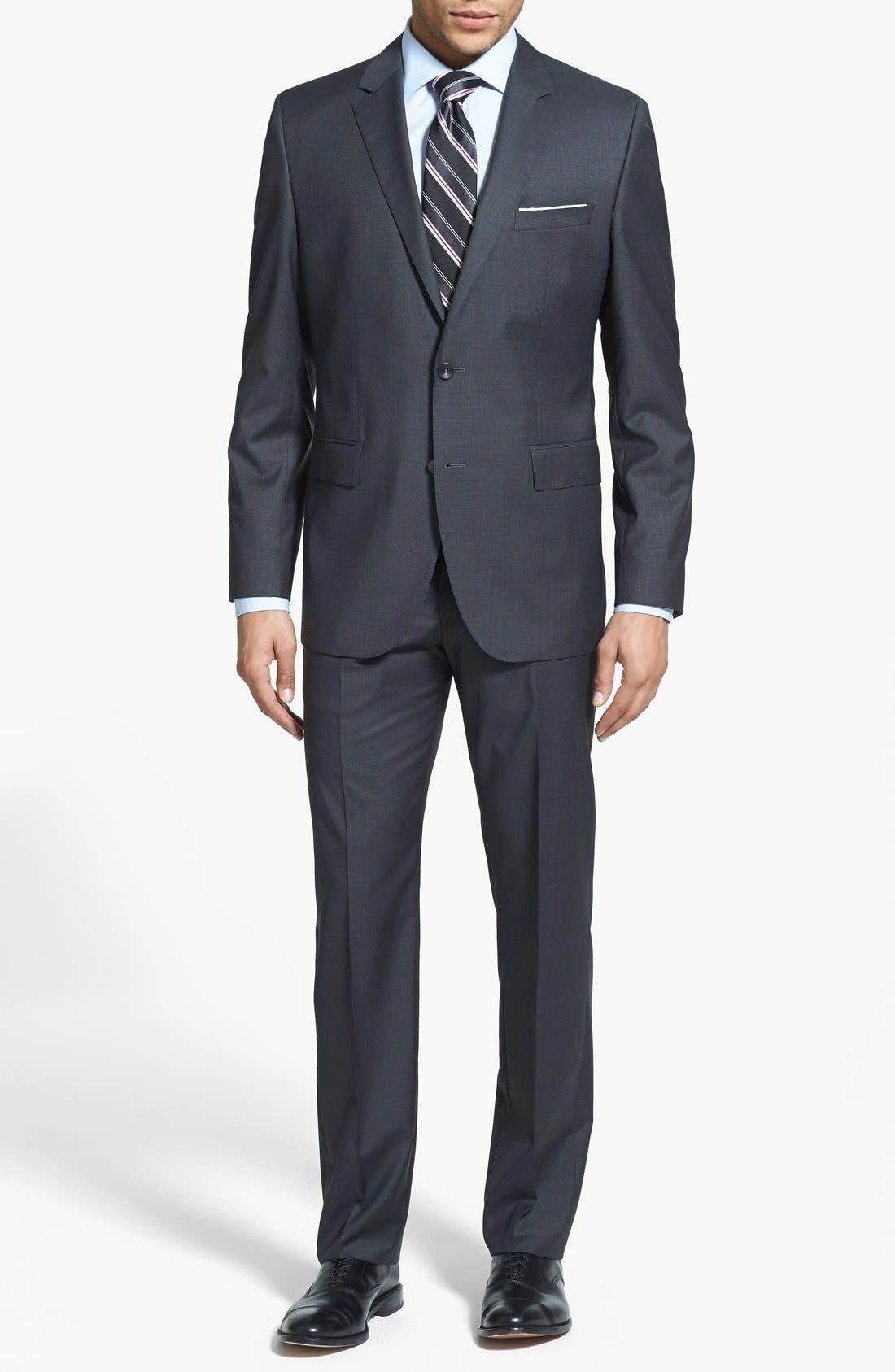 Main Image - BOSS HUGO BOSS 'Keys/Shaft' Trim Fit Wool Suit