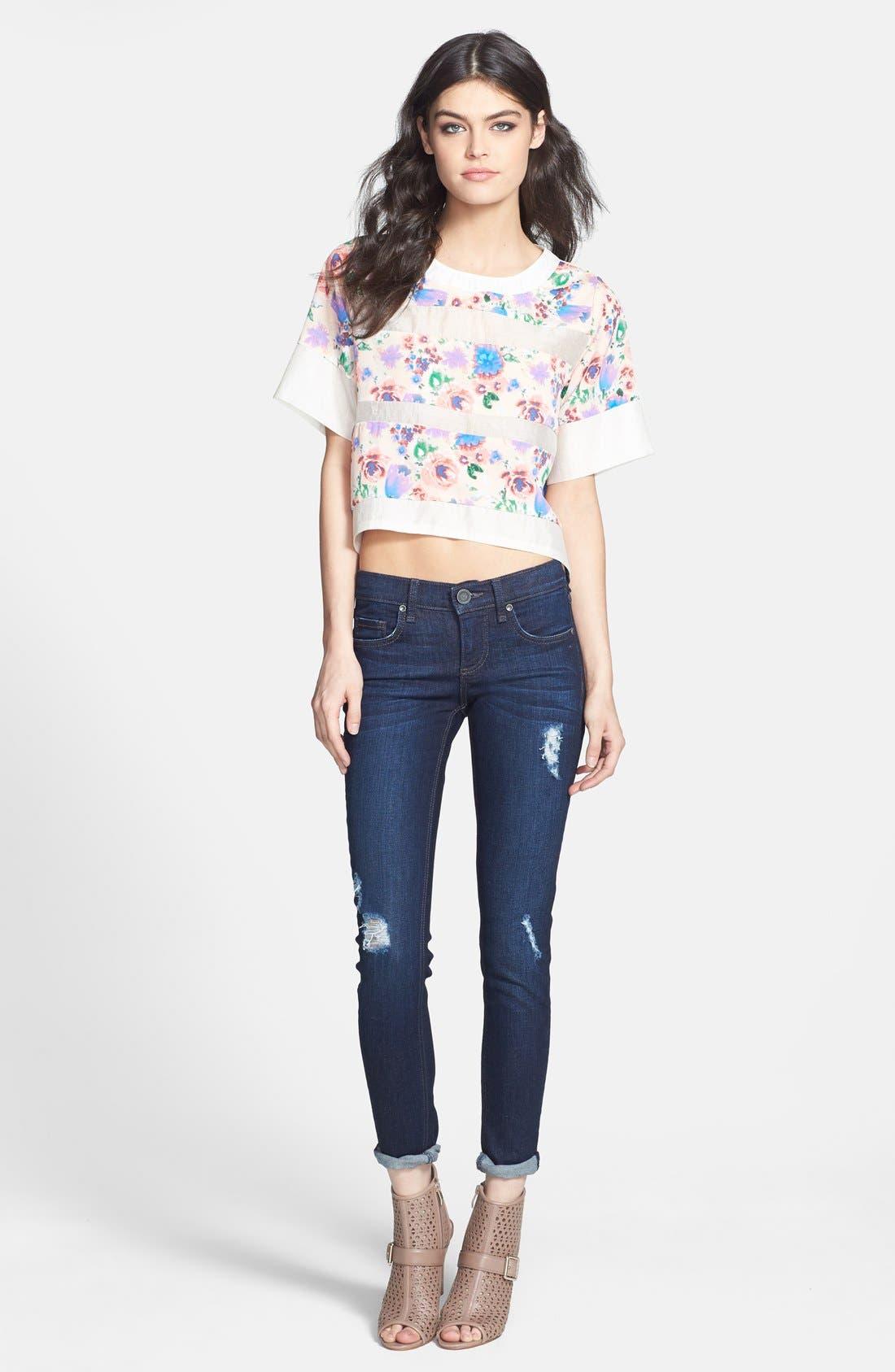 Alternate Image 4  - edyson 'Sloan' Deconstructed Skinny Jeans