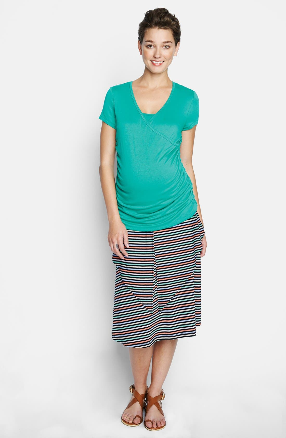 Convertible Maternity Dress,                             Alternate thumbnail 3, color,                             Candy Stripes