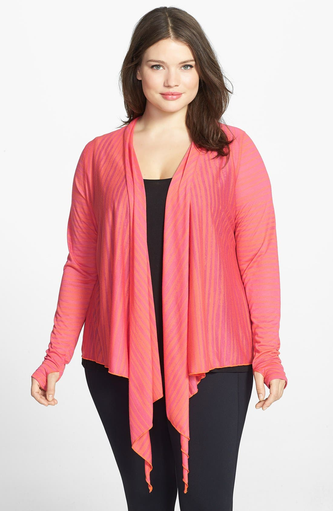 Main Image - Moving Comfort 'Flaunt It' Wrap Cardigan (Plus Size)