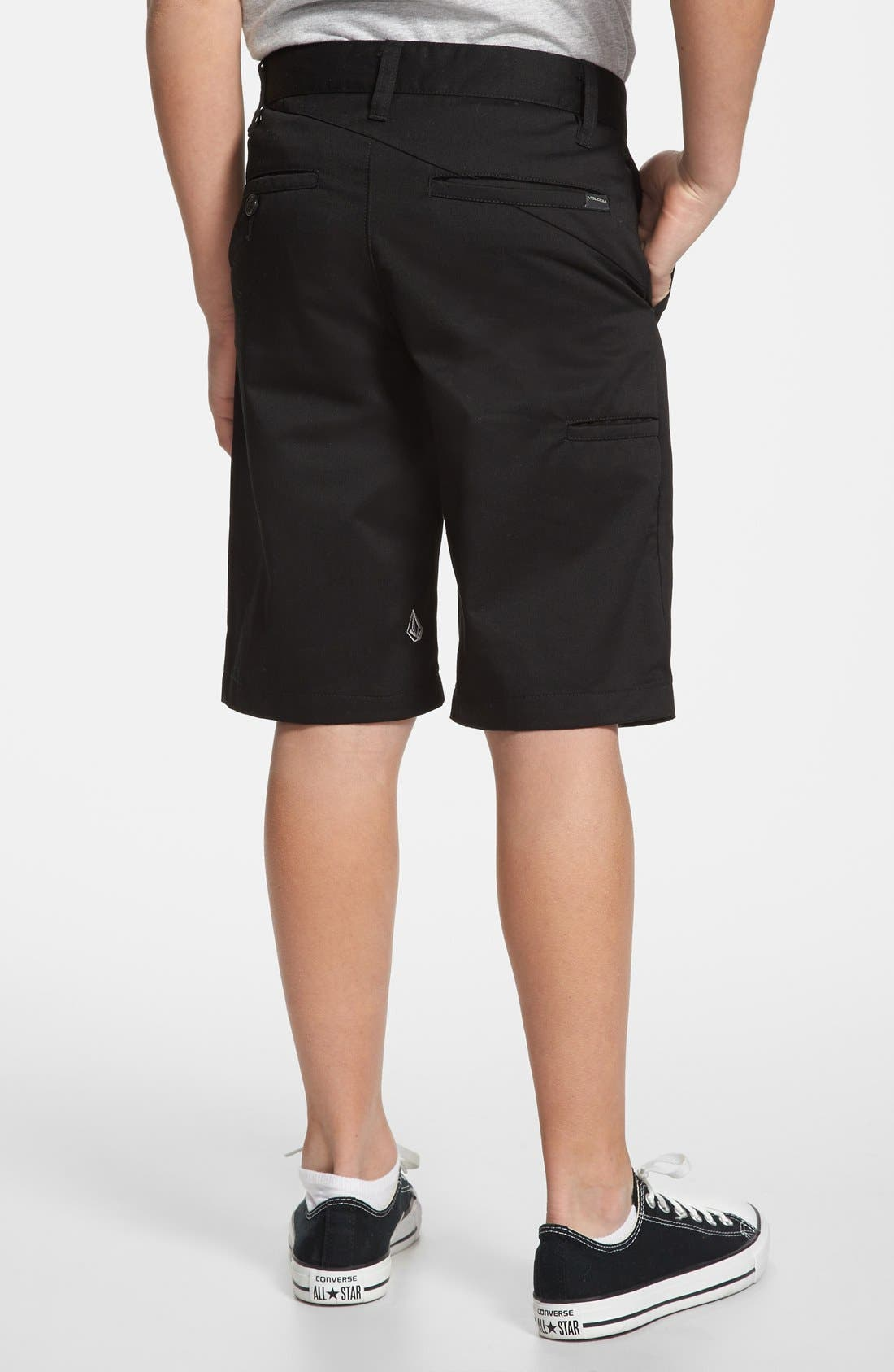 Alternate Image 2  - Volcom 'Friendly' Chino Shorts (Big Boys)