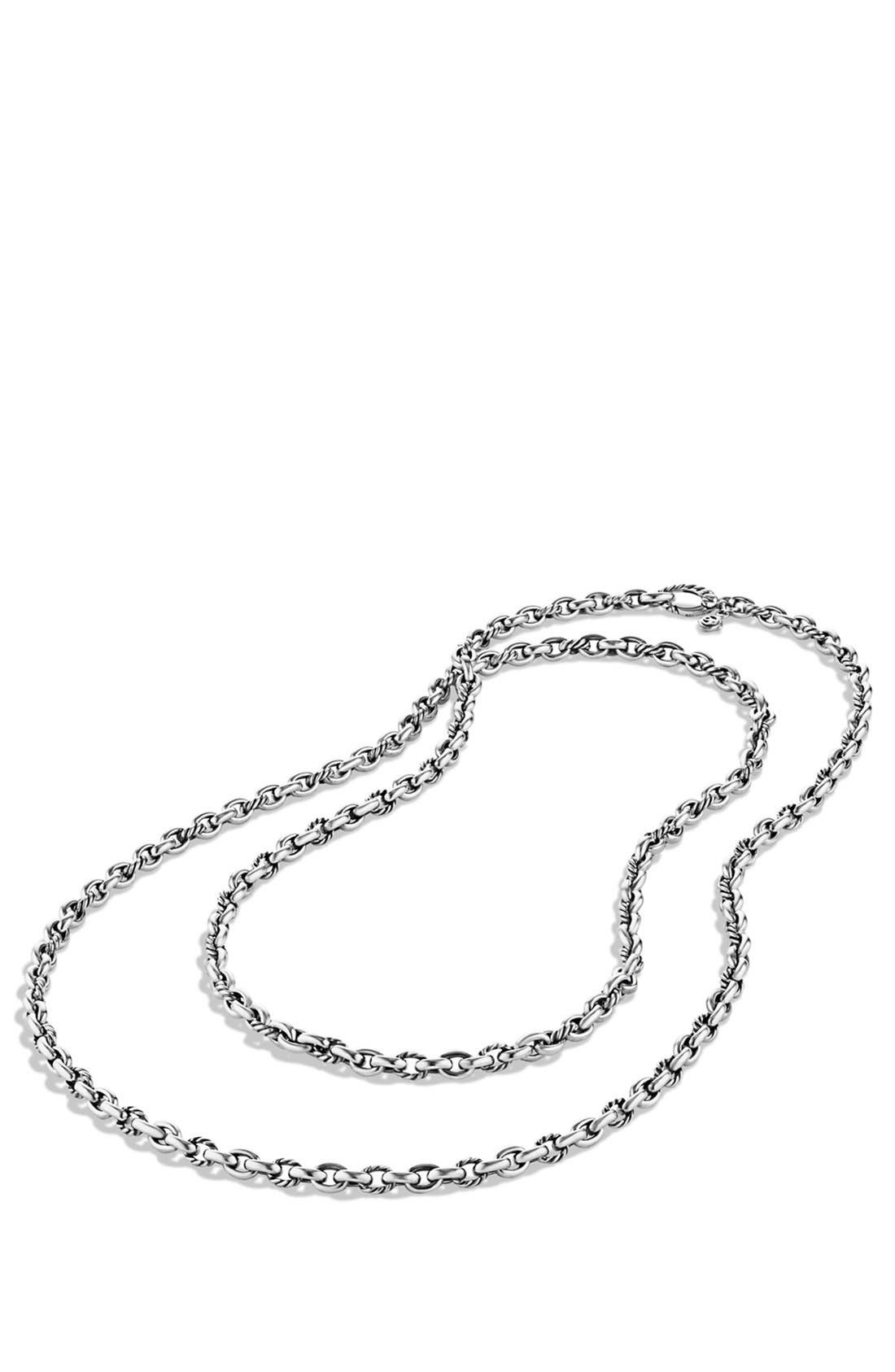 'Oval' Link Necklace,                             Alternate thumbnail 2, color,                             Silver