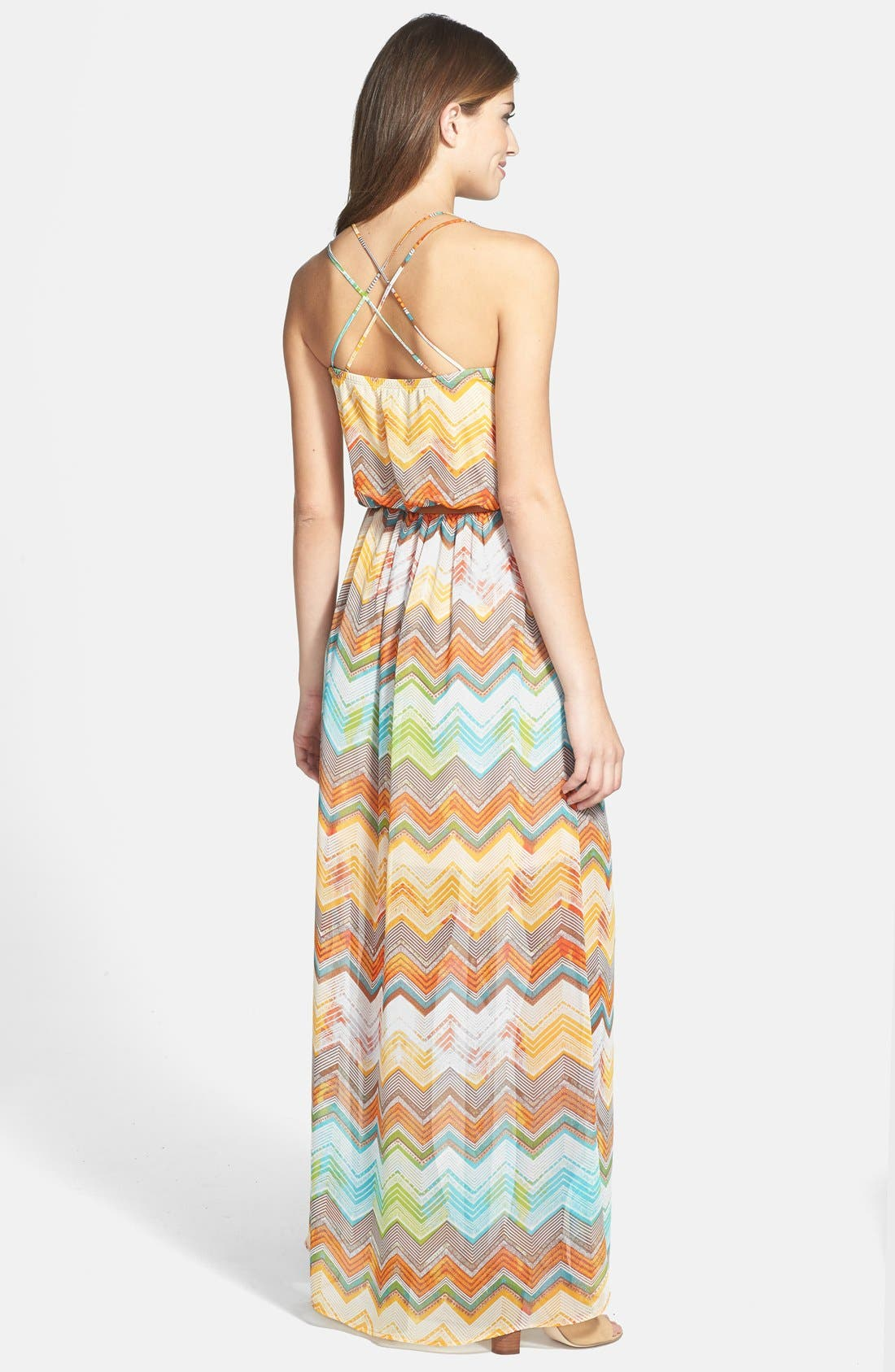 Alternate Image 2  - KUT from the Kloth 'Jackie' Zigzag Stripe Sleeveless Maxi Dress
