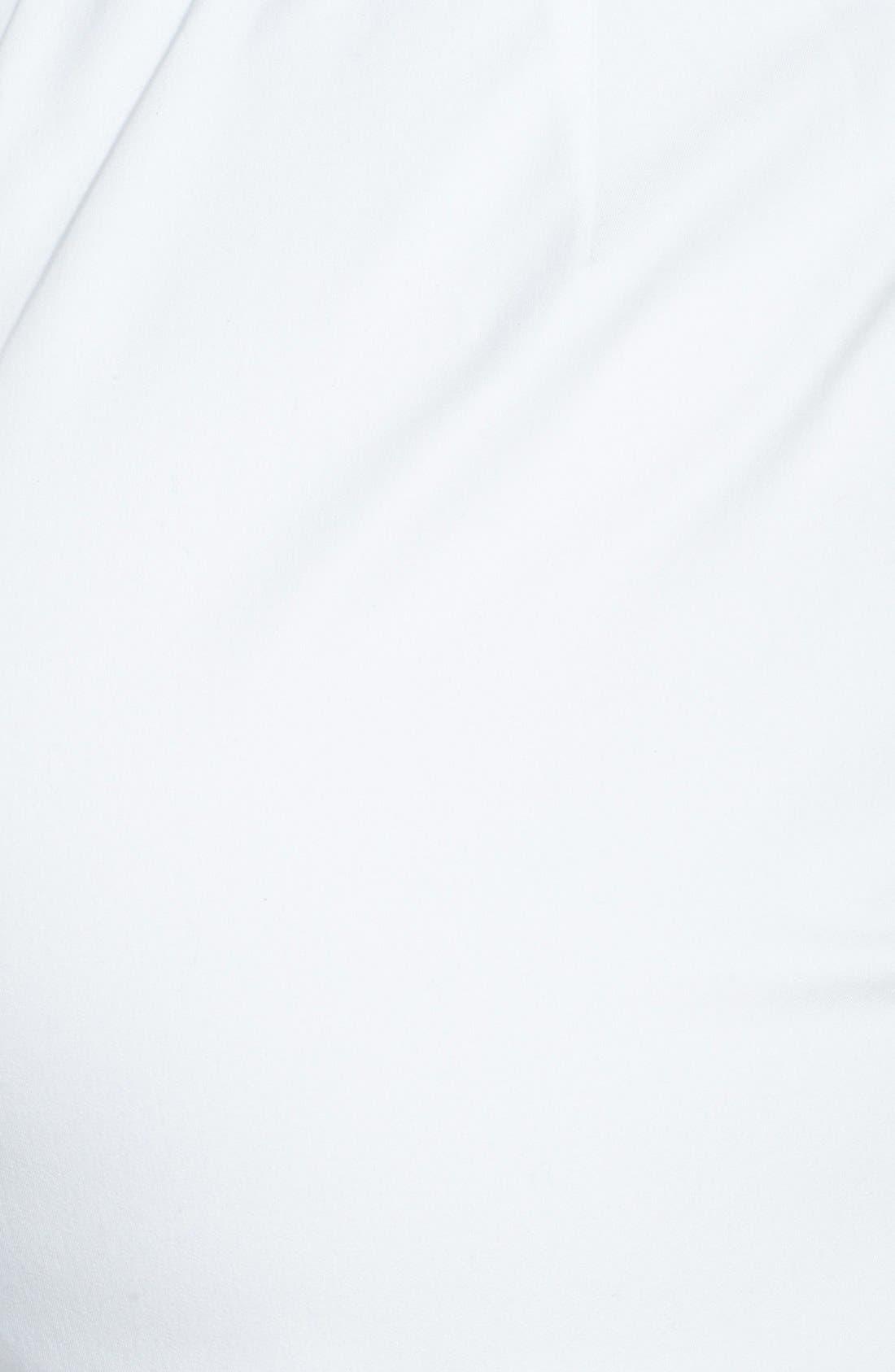 Stretch Organic Cotton Ankle Pants,                             Alternate thumbnail 4, color,                             White