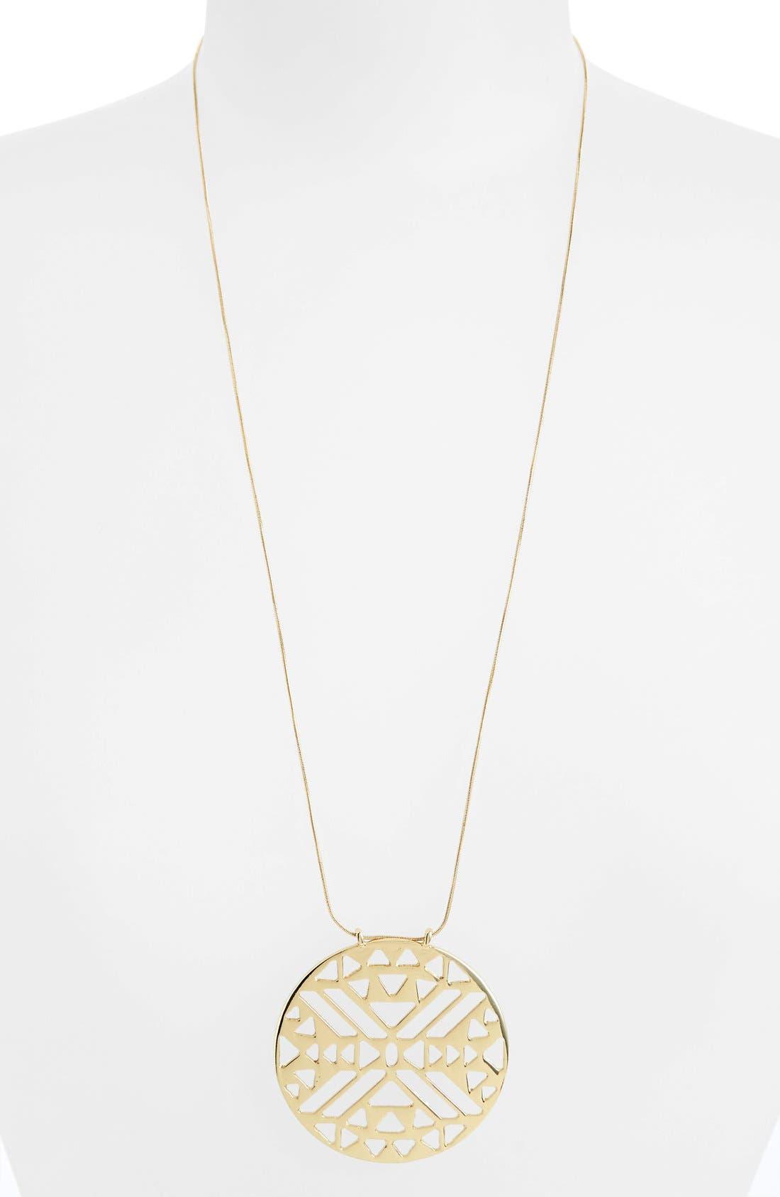 Alternate Image 1 Selected - Topshop 'Aztec' Cutout Circle Necklace
