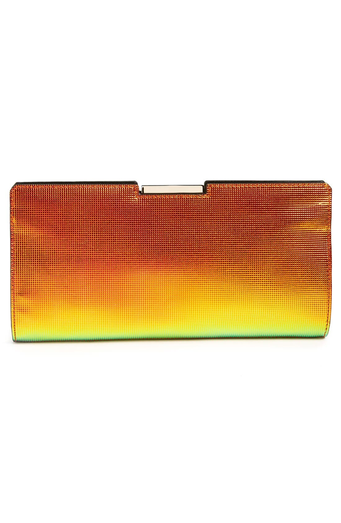 Alternate Image 4  - Milly 'Crosby' Iridescent Frame Clutch