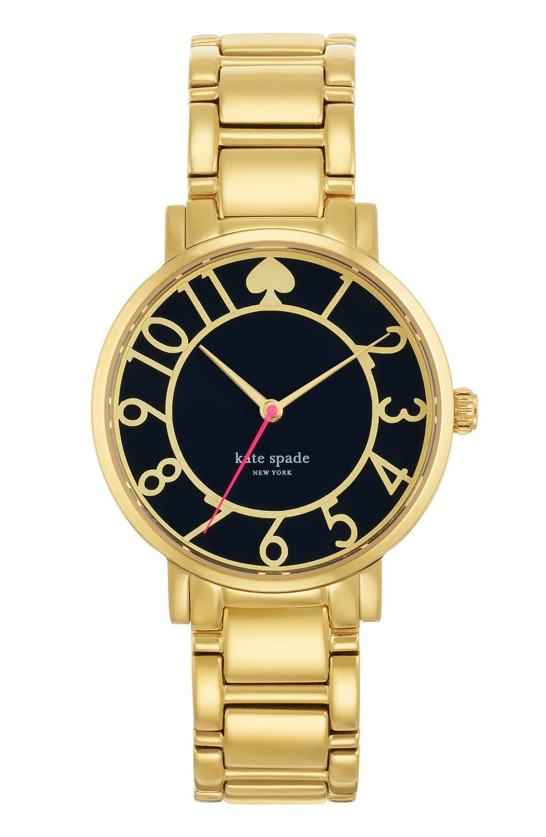 Alternate Image 1 Selected - kate spade new york 'gramercy' round bracelet watch, 34mm