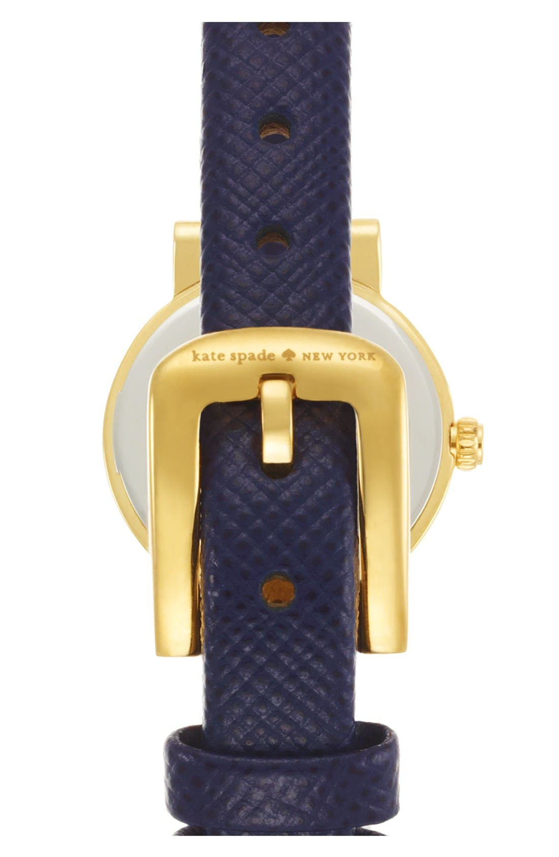 Alternate Image 2  - kate spade new york 'tiny metro' leather strap watch, 20mm