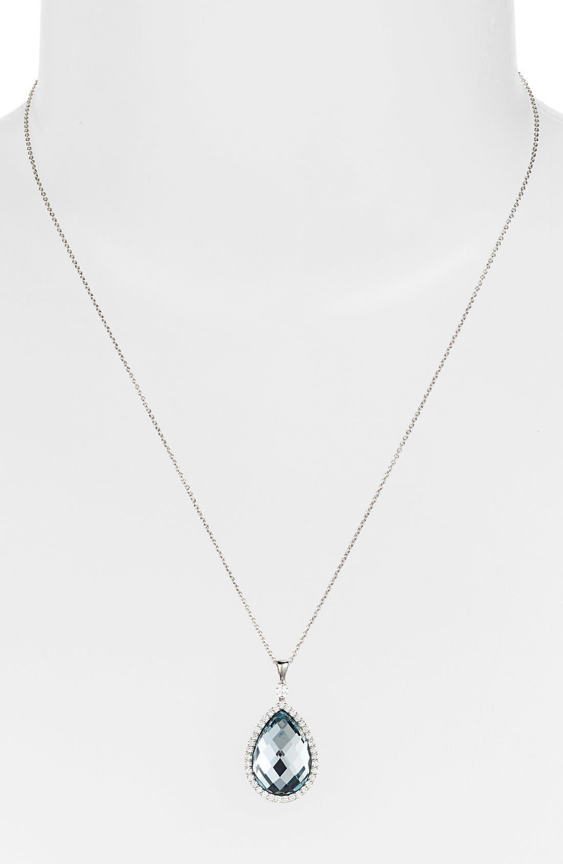 Alternate Image 2  - Roberto Coin Diamond Teardrop Pendant Necklace