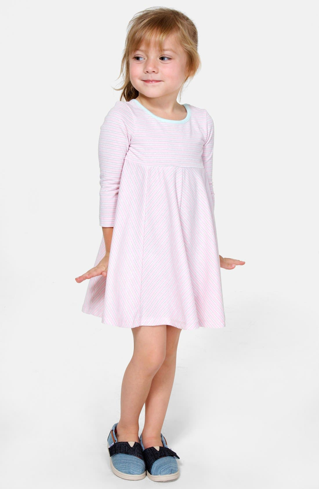 Alternate Image 2  - Pippa & Julie Stripe Knit Dress (Toddler Girls)