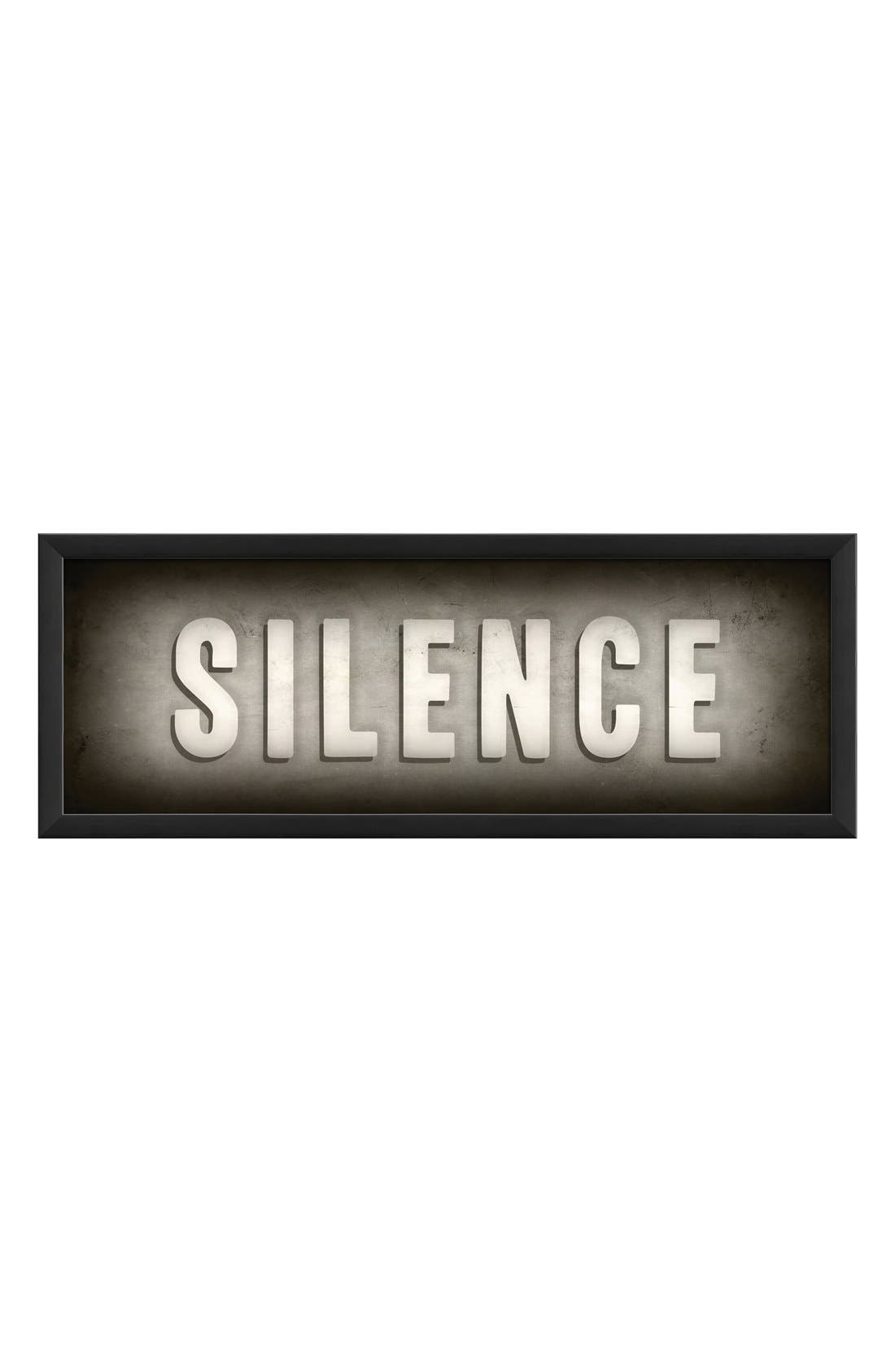 Alternate Image 1 Selected - Spicher and Company 'Silence' Vintage Look Theater Sign Artwork