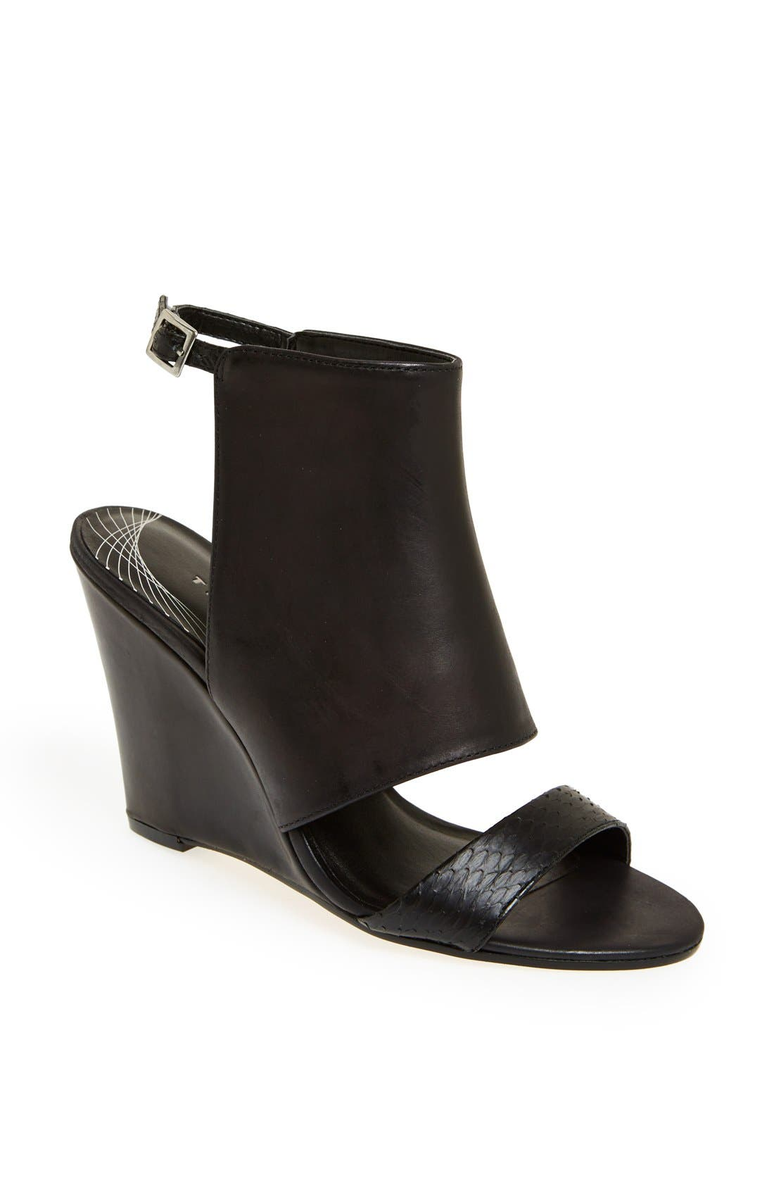 Main Image - Trouvé 'Raley' Cuff Wedge Sandal
