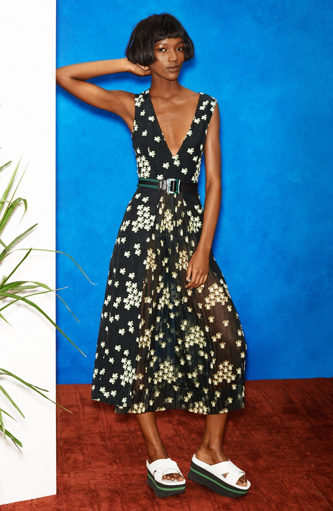 Main Image - Marni Print Sleeveless Chiffon Dress