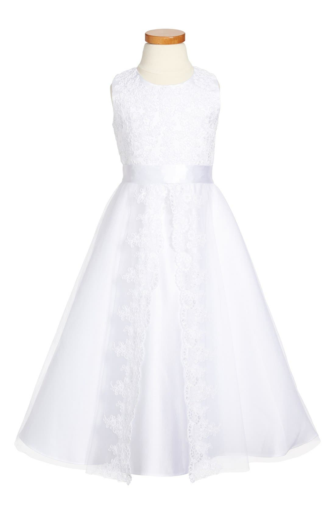 Alternate Image 1 Selected - Joan Calabrese for Mon Cheri First Communion Dress (Little Girls & Big Girls)