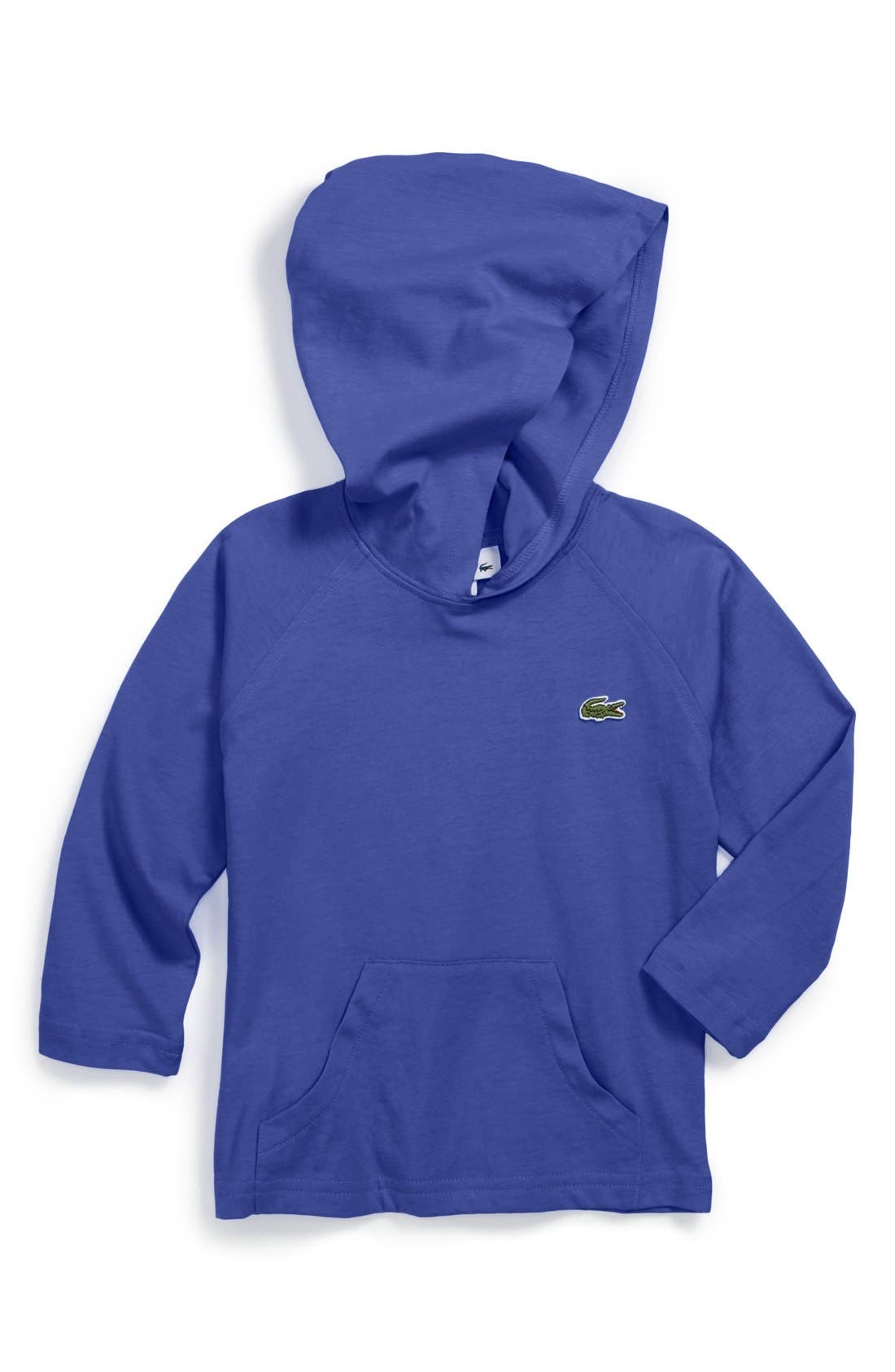 Alternate Image 1 Selected - Lacoste Pullover Hoodie (Toddler)