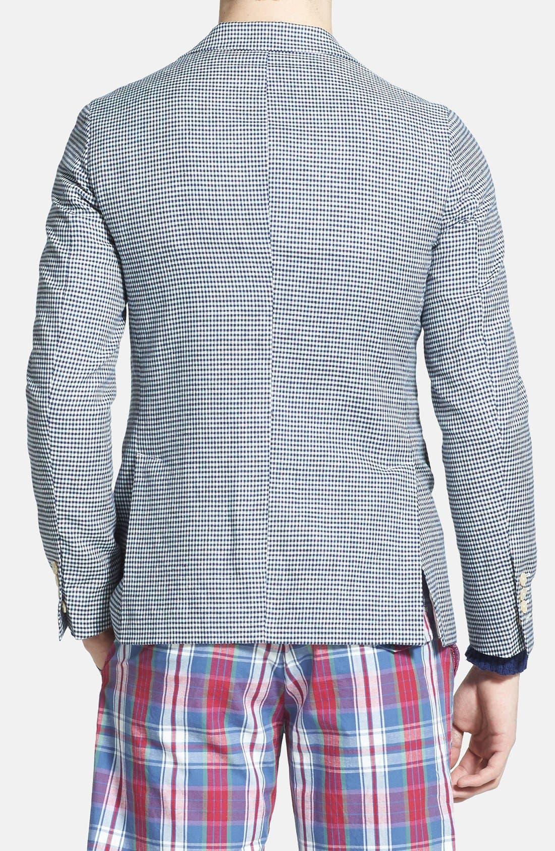 Alternate Image 2  - Gant Rugger Linen & Wool Gingham Sportcoat