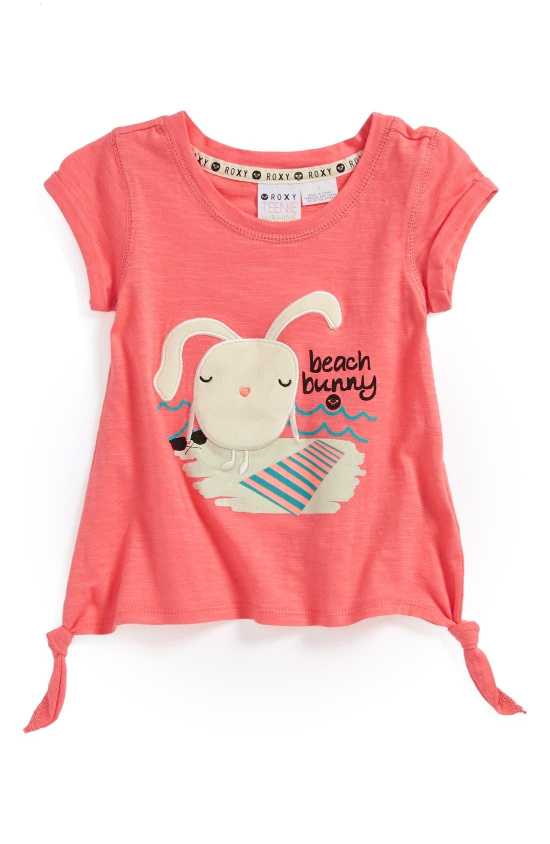 Alternate Image 1 Selected - Roxy 'Sundae Funday' Tee (Toddler Girls, Little Girls & Big Girls)
