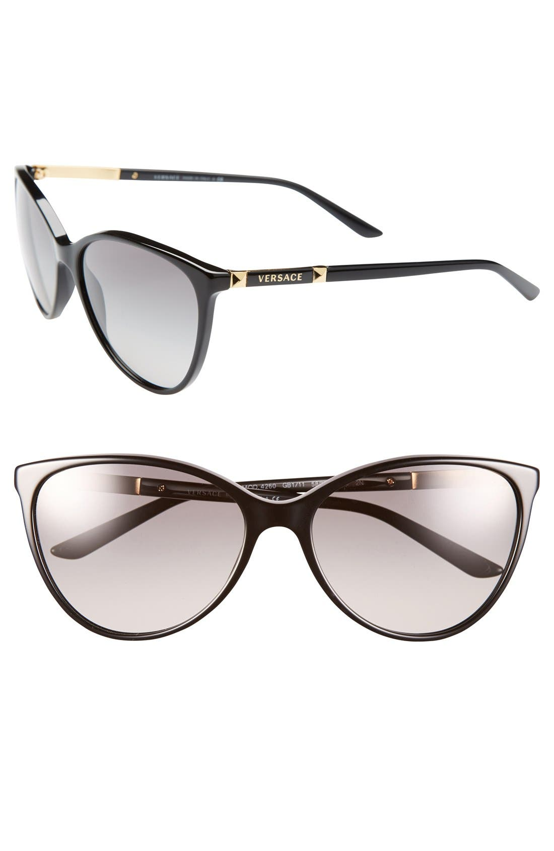 Alternate Image 1 Selected - Versace 'Pilot' 58mm Sunglasses