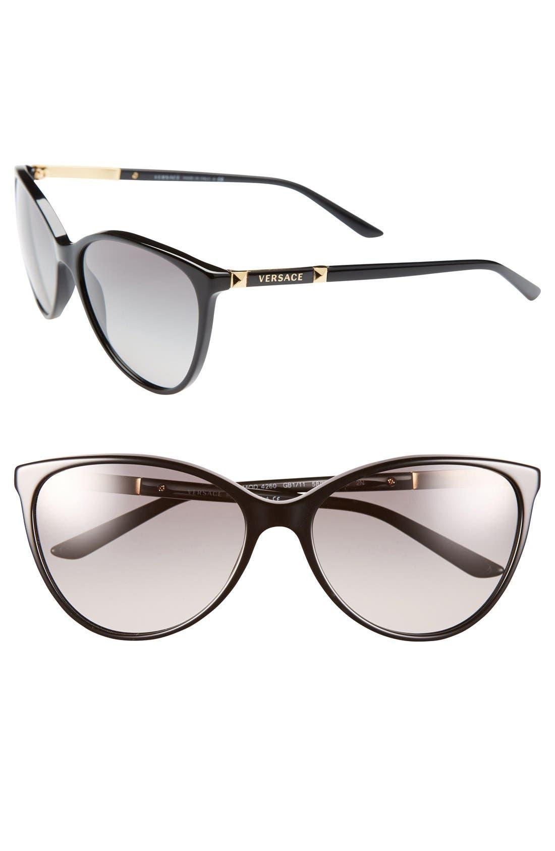 'Pilot' 58mm Sunglasses,                         Main,                         color, Black