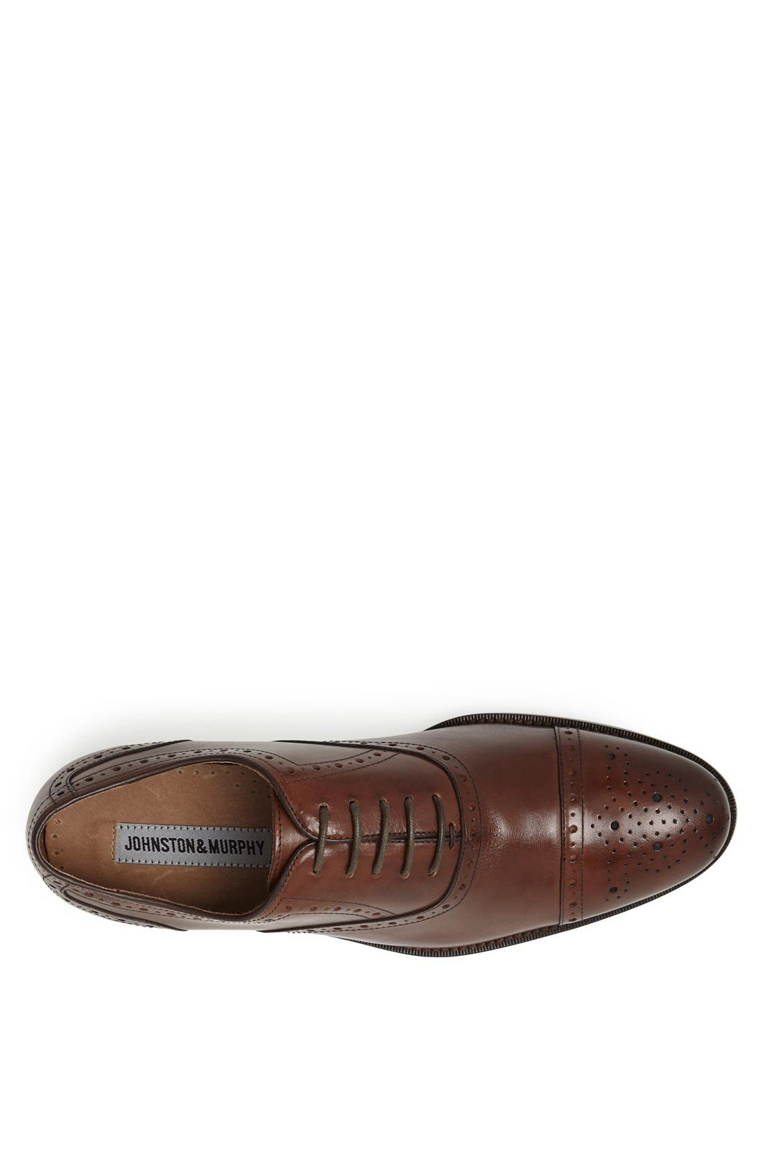 Alternate Image 3  - Johnston & Murphy 'Tyndall' Cap Toe Oxford (Online Only)