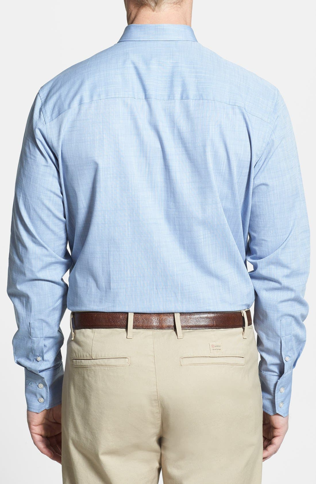 Alternate Image 2  - Cutter & Buck 'Meadows' Oxford Sport Shirt (Big & Tall)