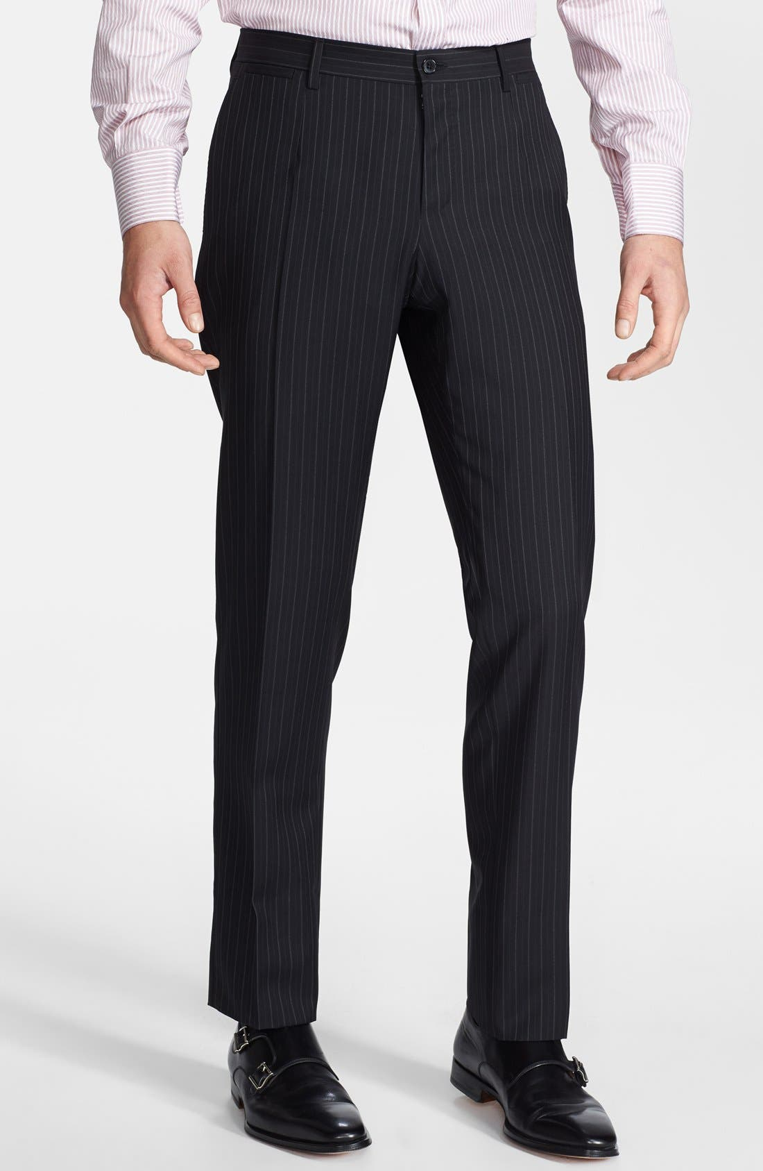 Alternate Image 4  - Dolce&Gabbana 'Martini' Black Stripe Wool Suit