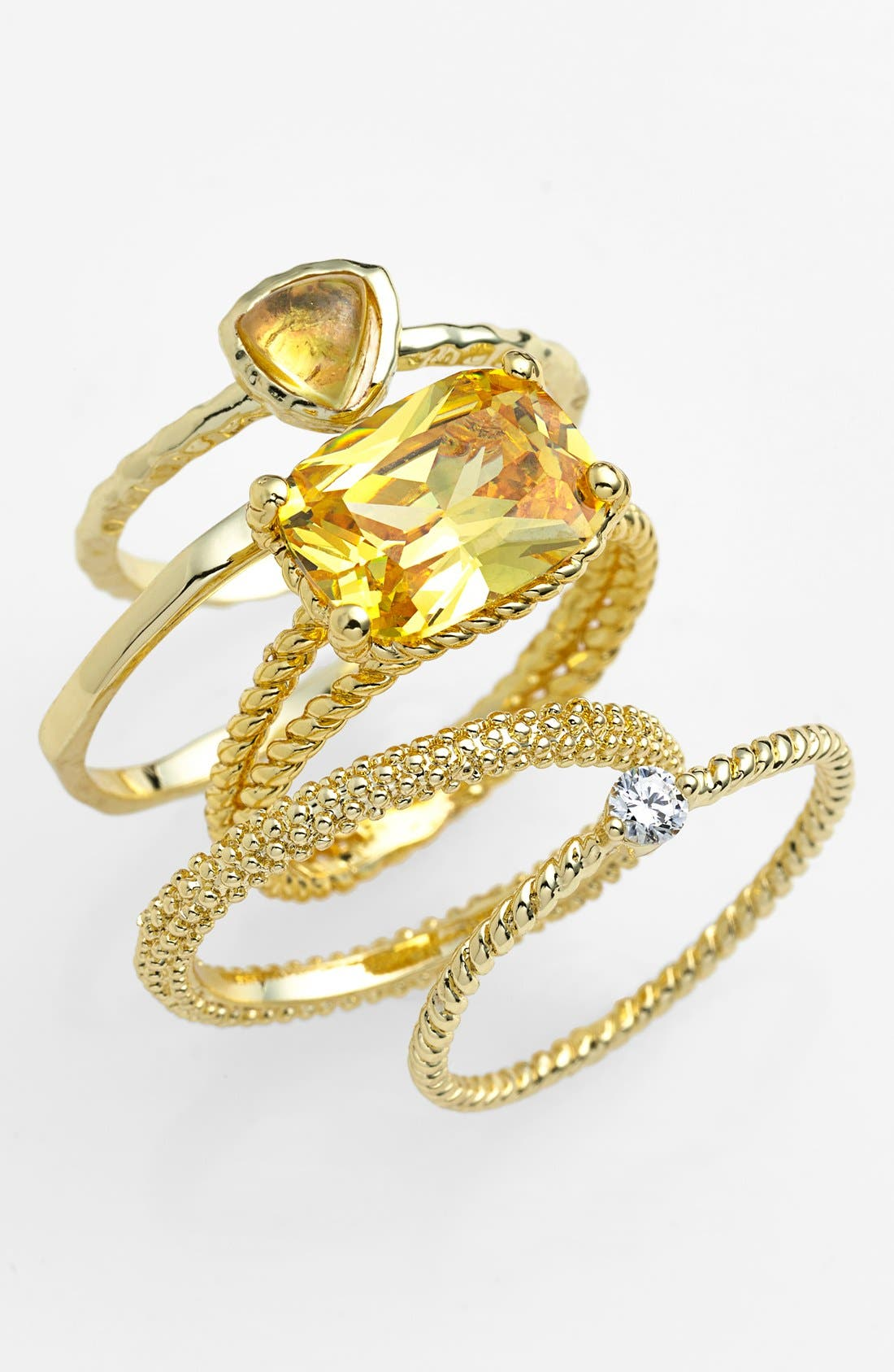 Alternate Image 1 Selected - Ariella Collection Stackable Rings (Set of 5)