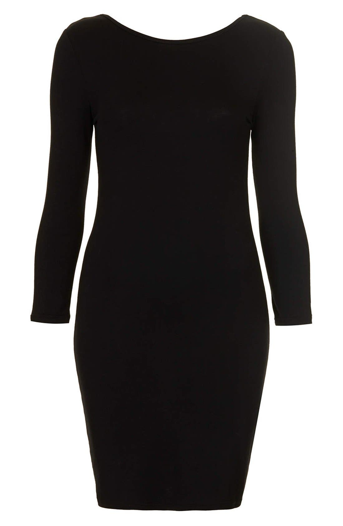 Alternate Image 3  - Topshop Scoop Back Jersey Body-Con Dress