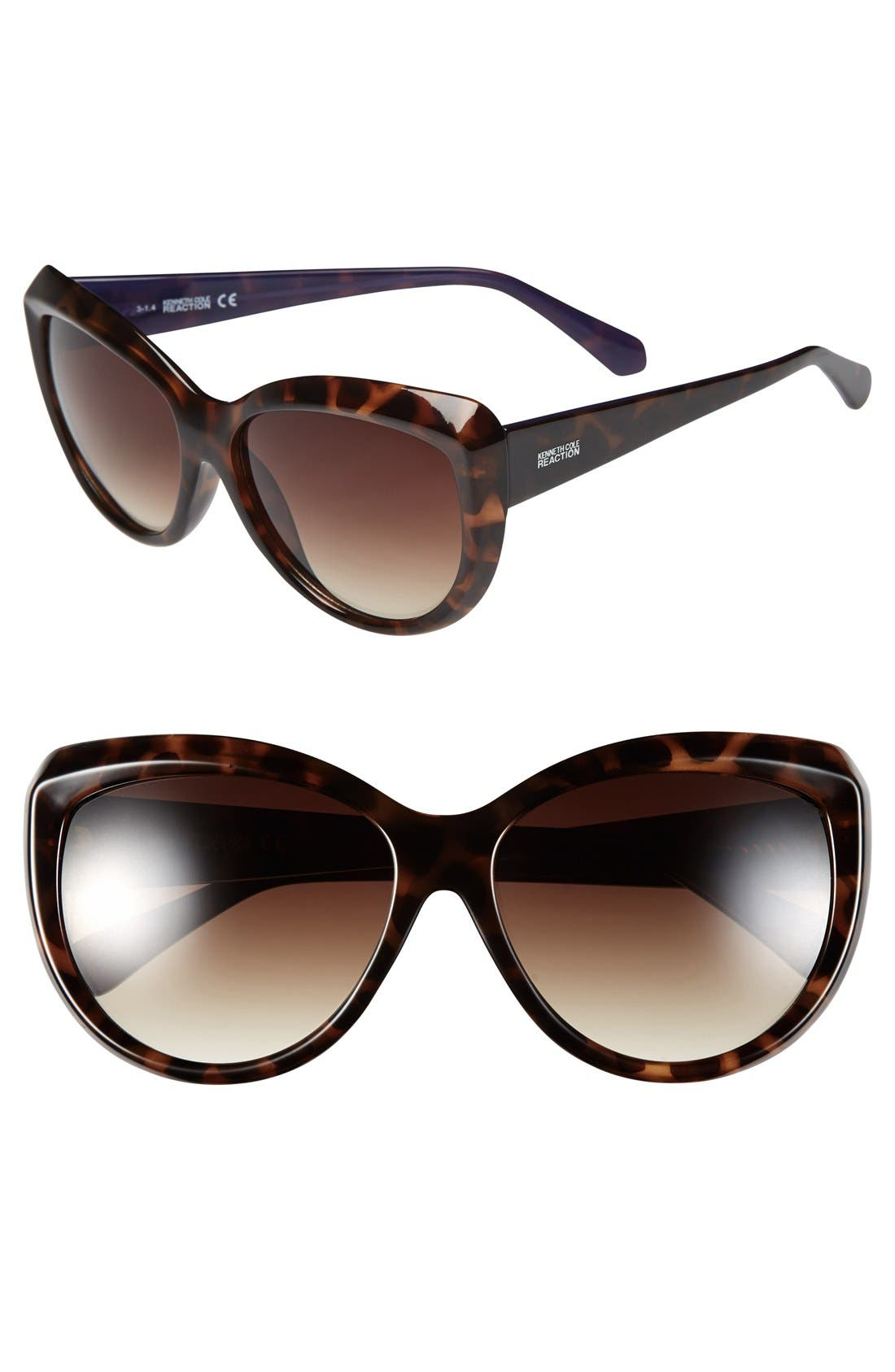 Main Image - Kenneth Cole Reaction 59mm Cat Eye Sunglasses