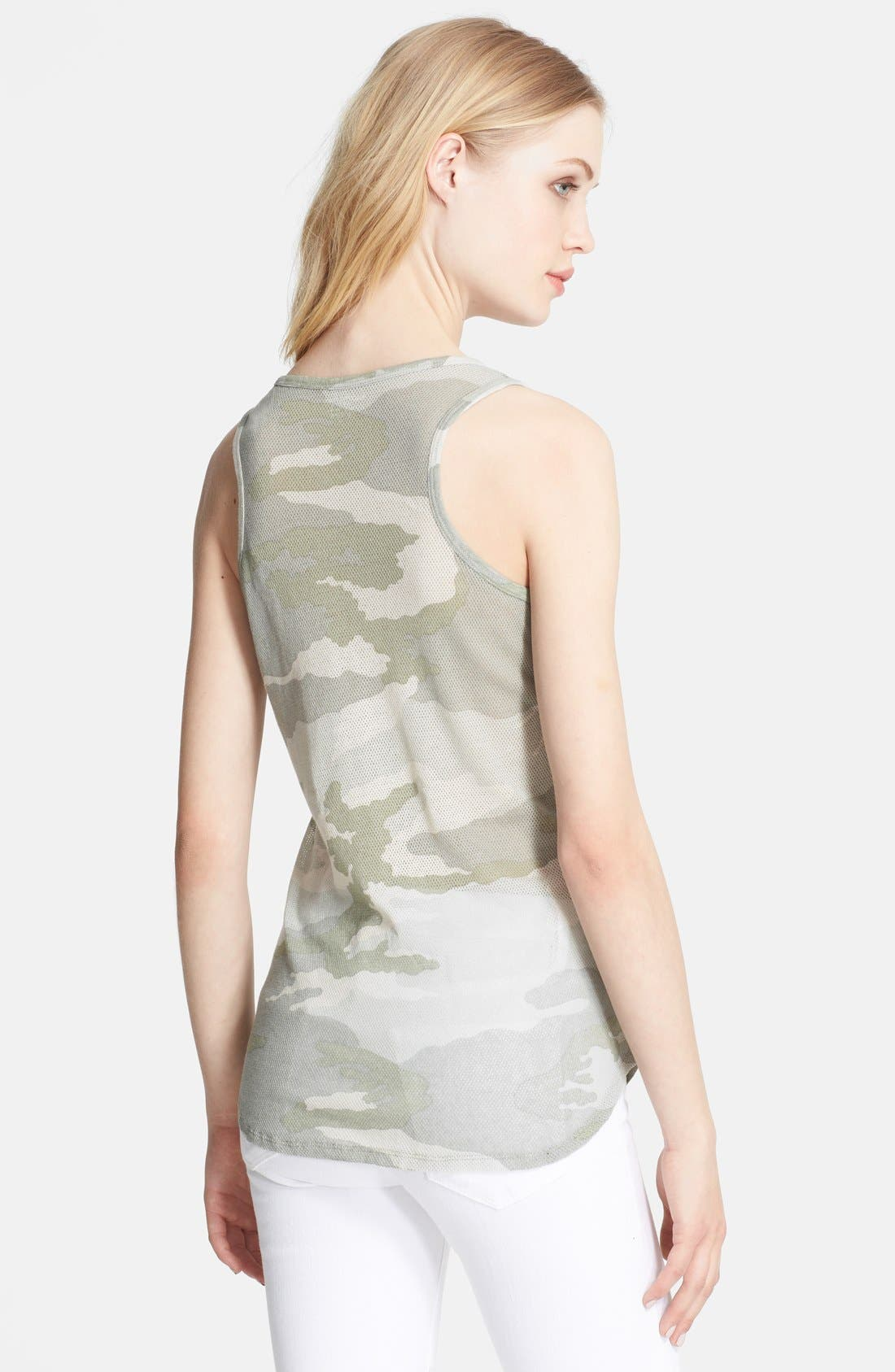 Alternate Image 2  - Majestic Camo Linen & Silk Tank