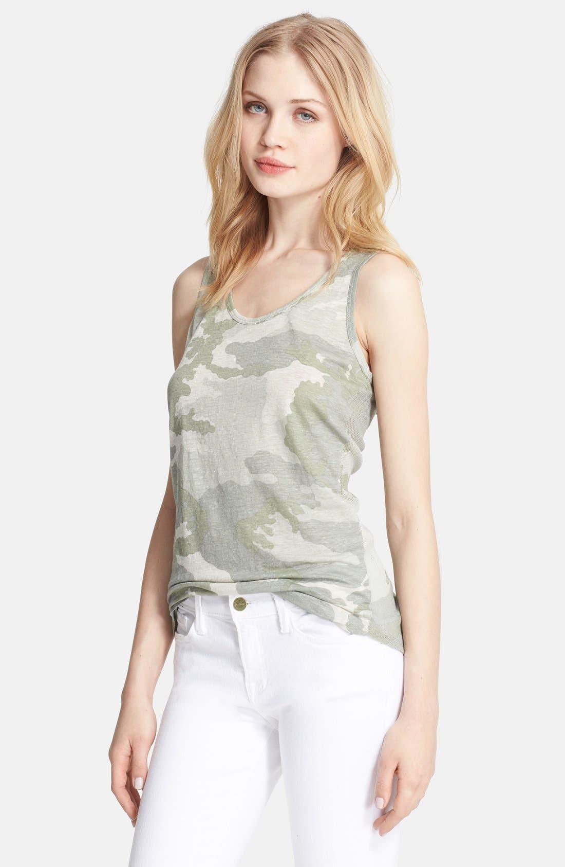 Alternate Image 1 Selected - Majestic Camo Linen & Silk Tank