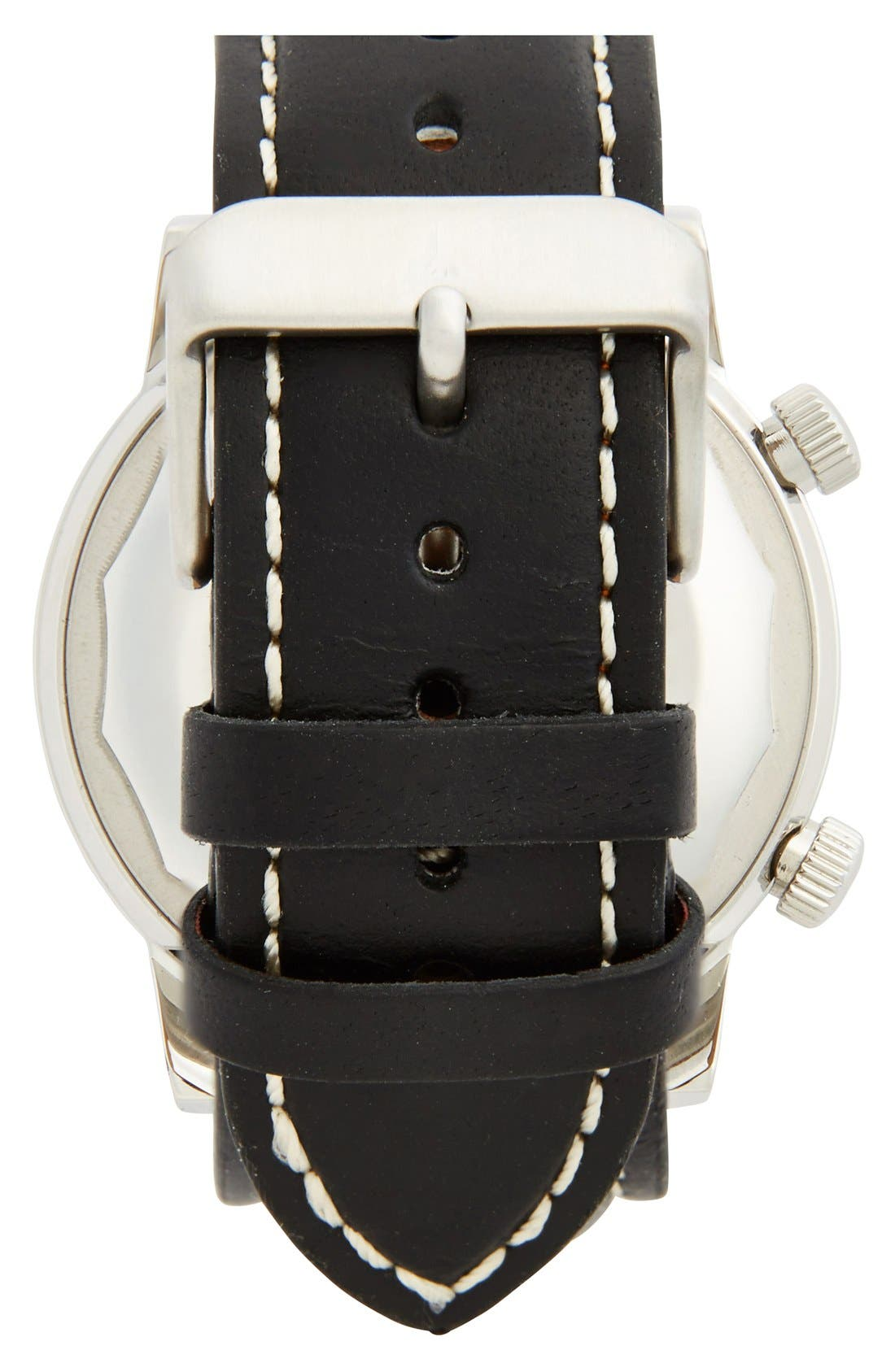 Alternate Image 2  - Jack Spade 'Stanton' Dual Time Leather Strap Watch, 43mm