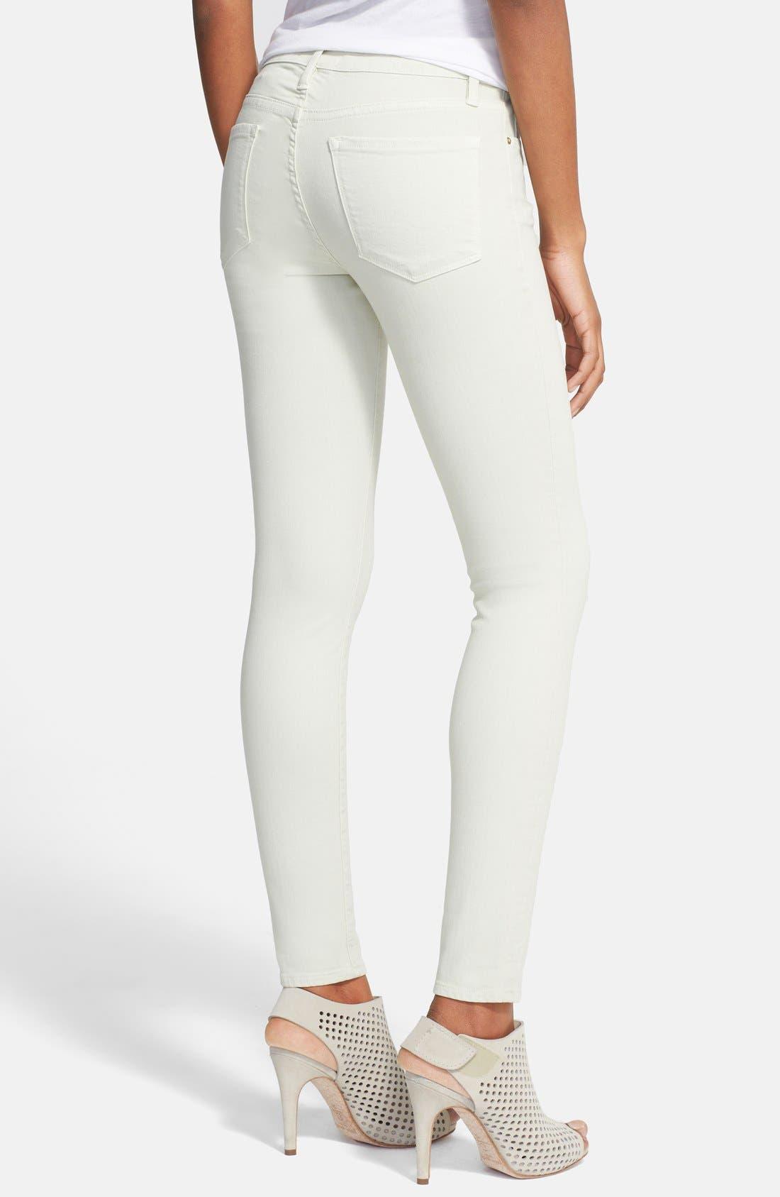 Alternate Image 2  - FRAME 'Le Color' Skinny Jeans (Pale Mint)
