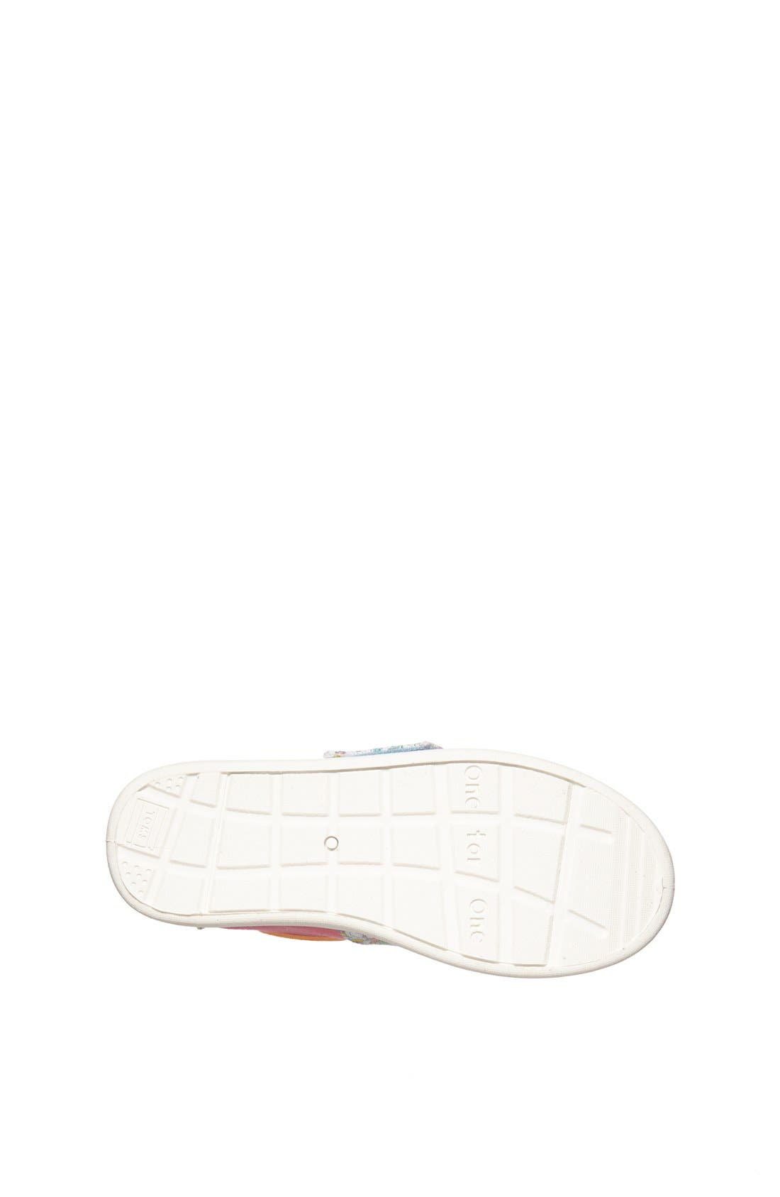 Alternate Image 4  - TOMS 'Bimini Tiny - Pink Inked Floral' Slip-On (Baby, Walker & Toddler)