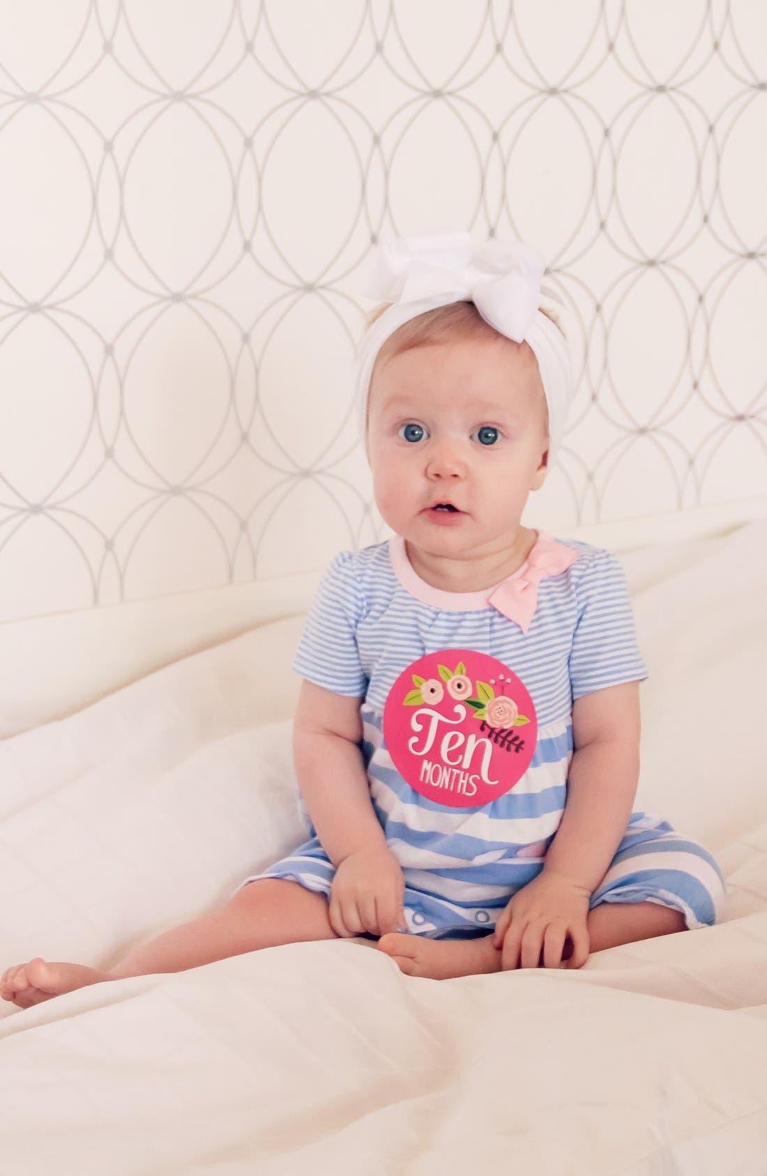 Alternate Image 2  - Lucy Darling Bodysuit & Stickers (Baby Girls)