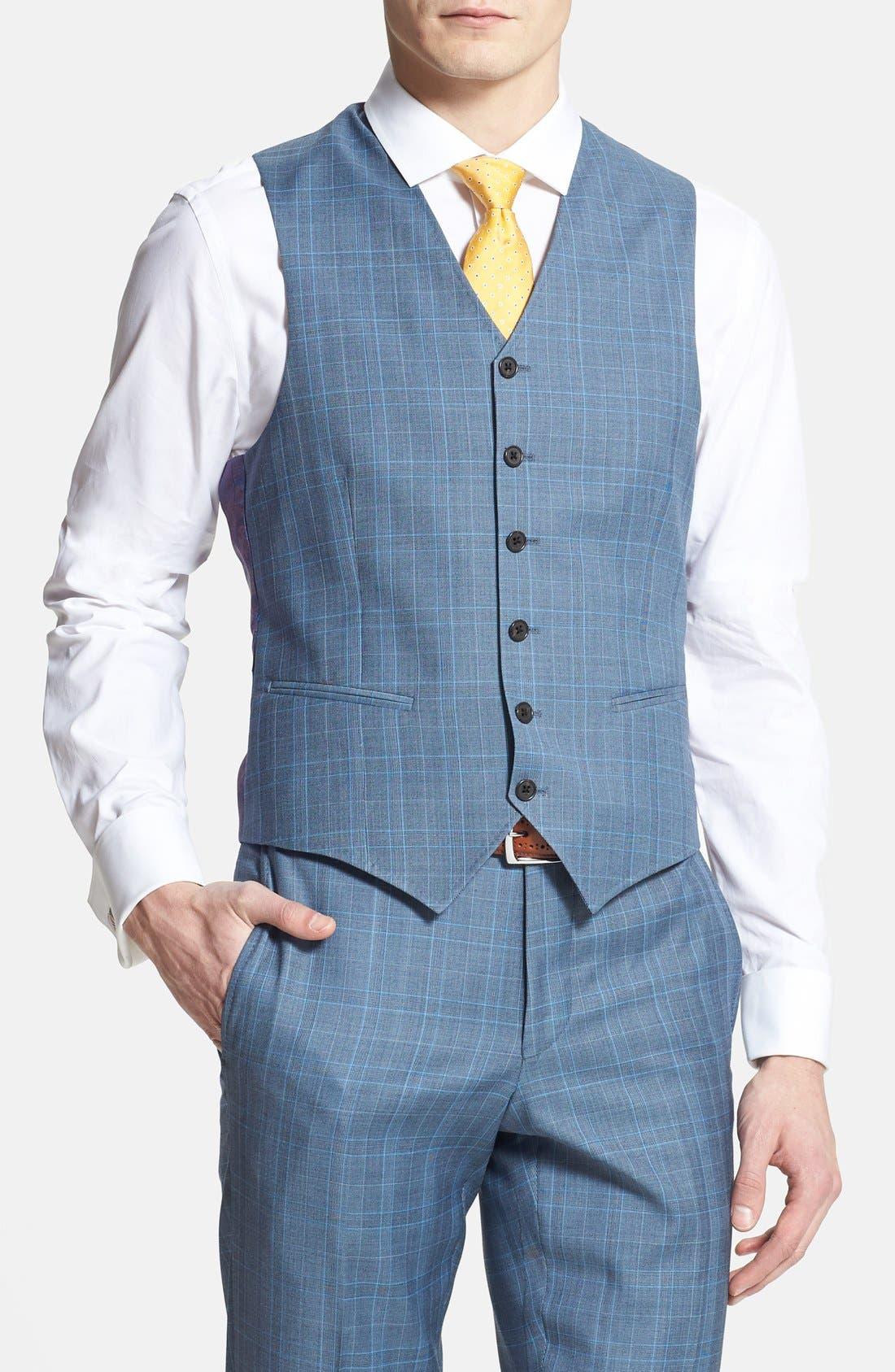 Alternate Image 4  - Ted Baker London 'Jones' Trim Fit Three-Piece Wool Suit