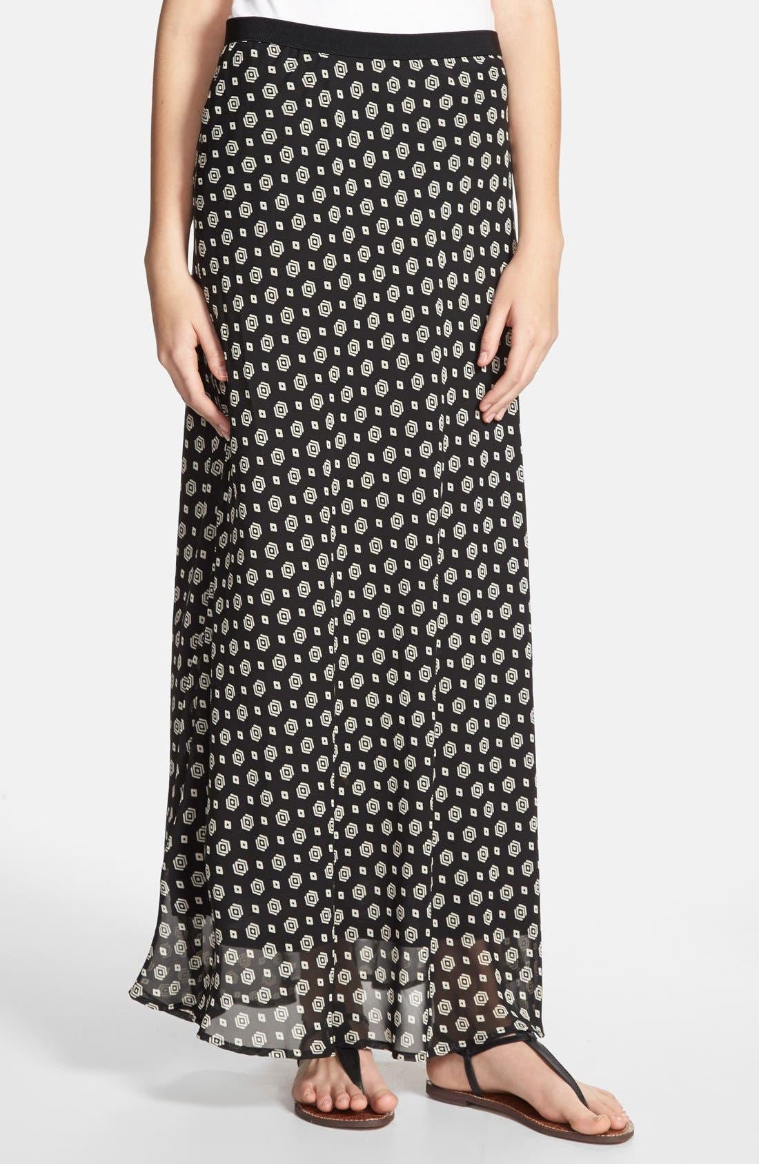Alternate Image 1 Selected - Pleione Foulard Print Maxi Skirt
