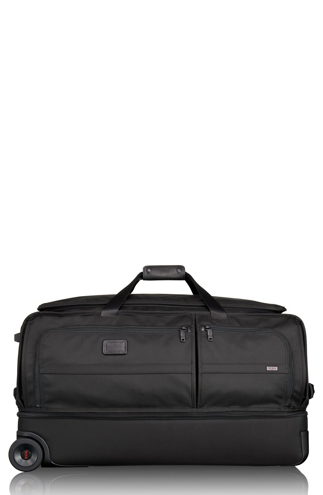 Alpha 2 31-Inch Rolling Two-Wheel Duffel Bag,                             Main thumbnail 1, color,                             Black