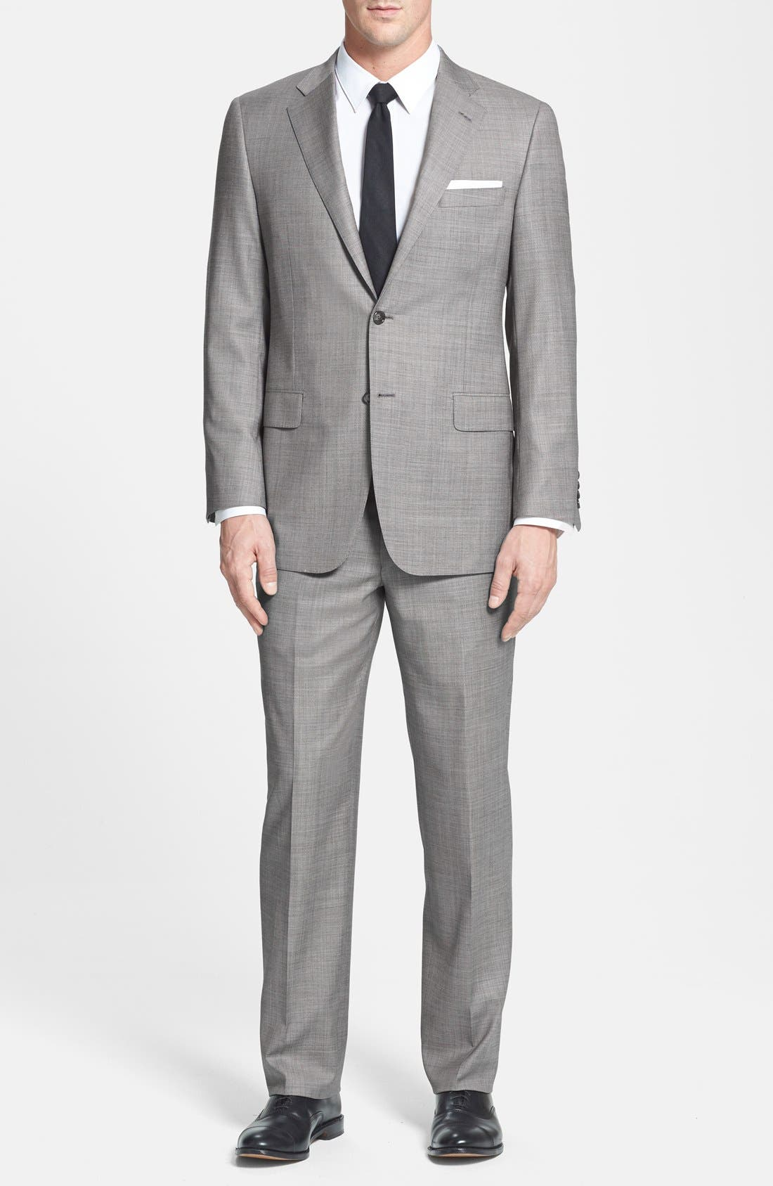 Alternate Image 1 Selected - BEACON HIGH LOW MOHAIR 2BTN SUIT