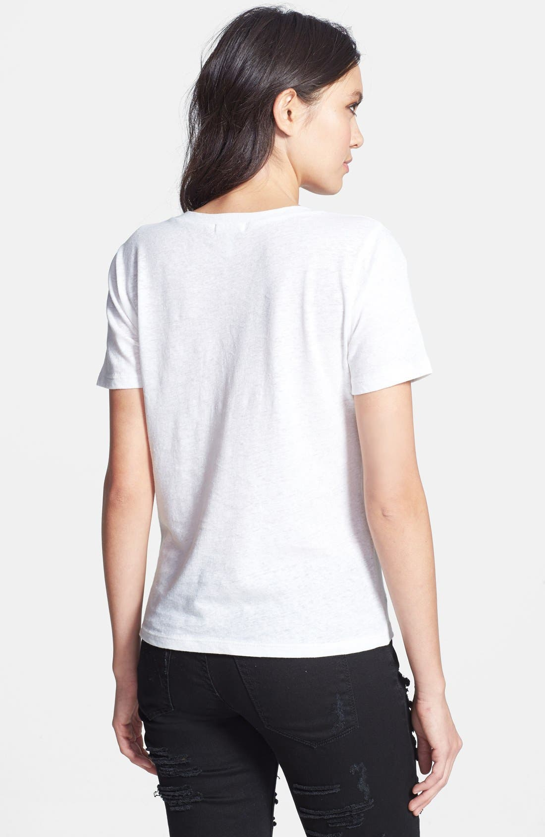 Alternate Image 2  - Leith V-Neck Linen Blend Tee