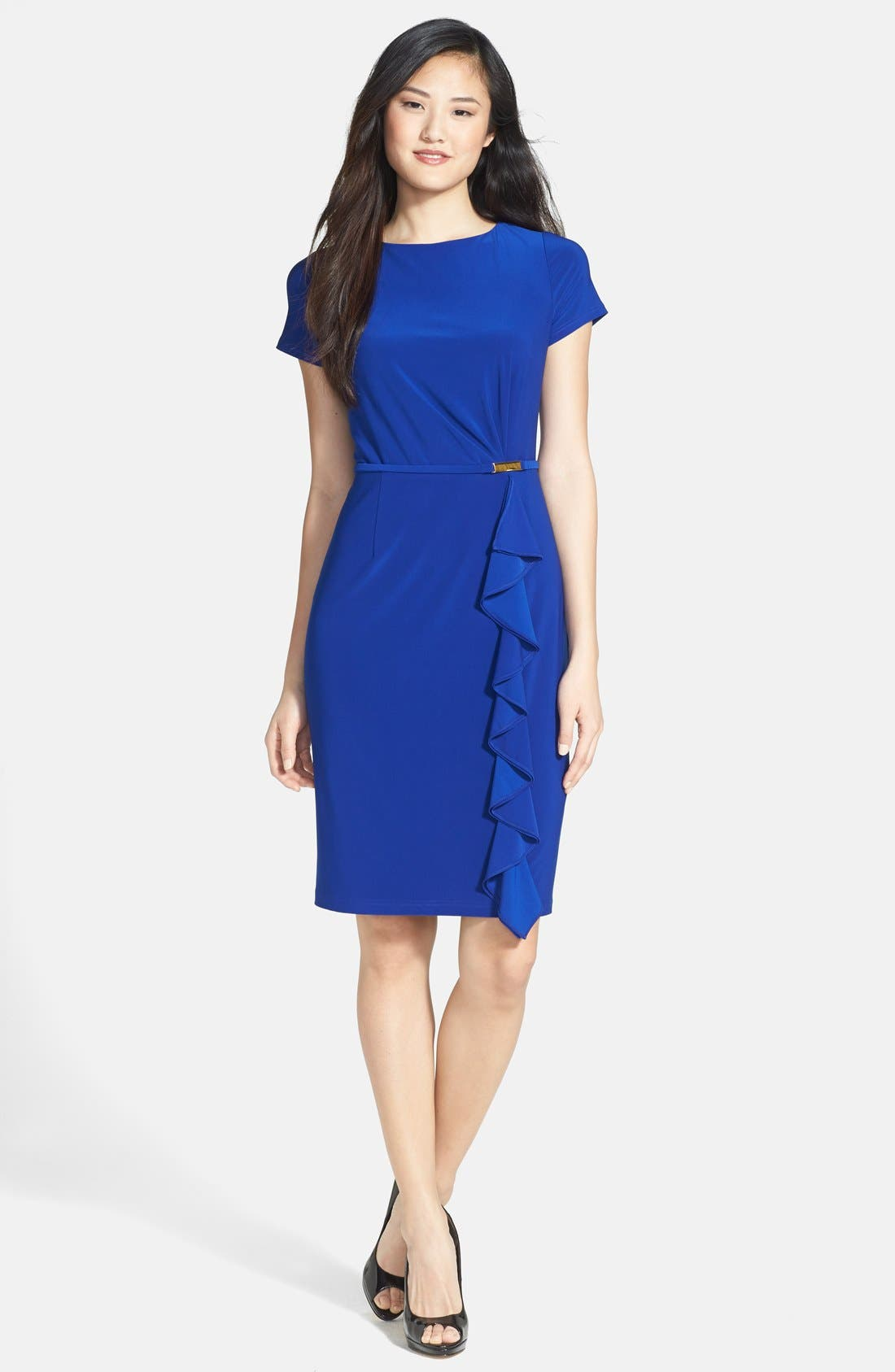 Alternate Image 3  - Adrianna Papell Ruffle Detail Sheath Dress
