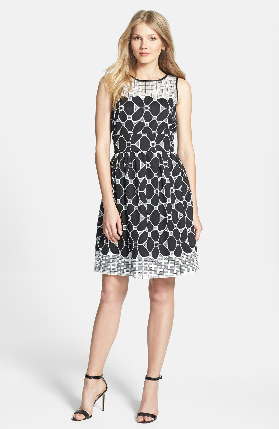 Alternate Image 3  - Gabby Skye Burnout Lace Fit & Flare Dress