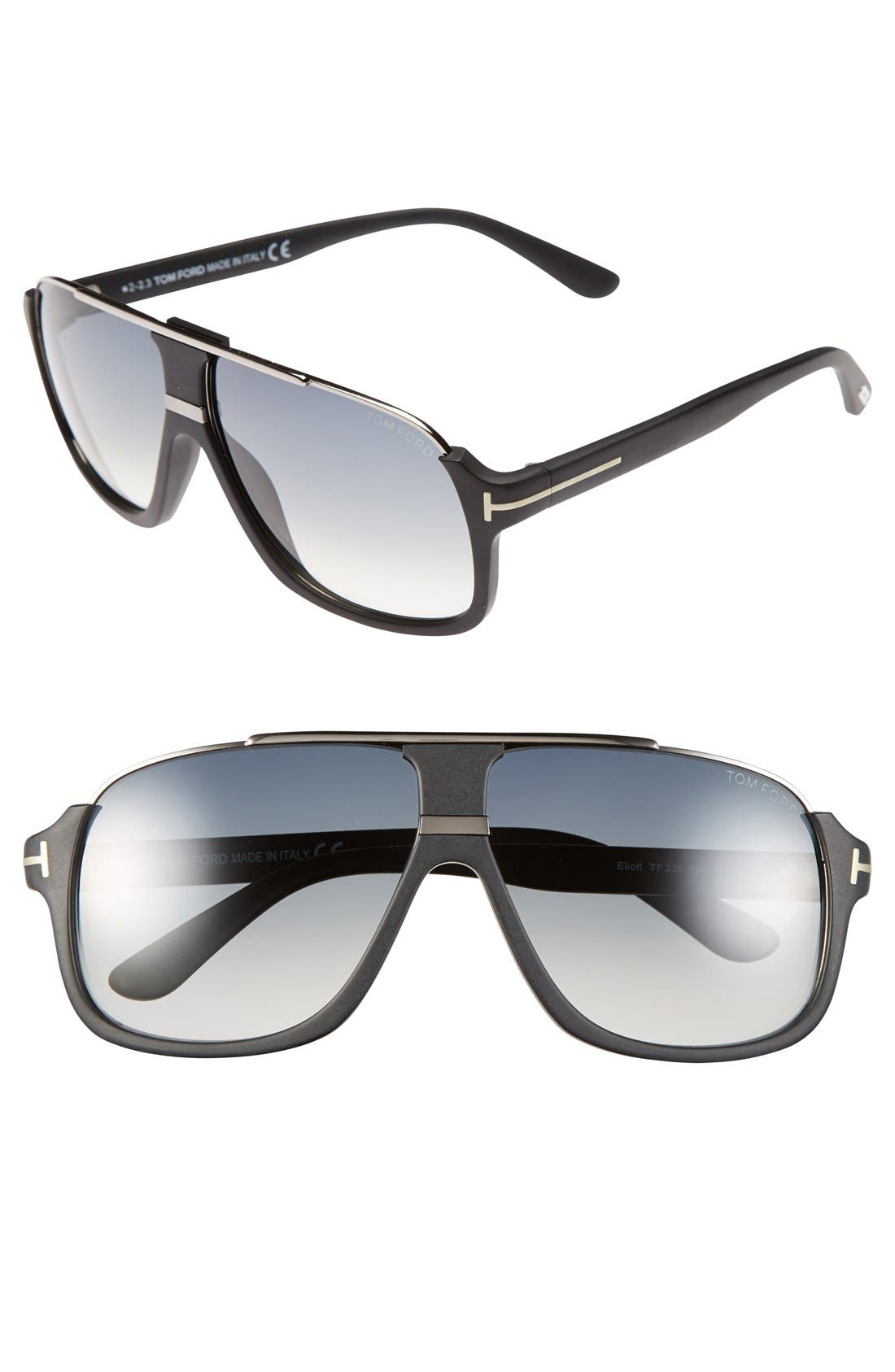 TOM FORD Eliot 60mm Sunglasses