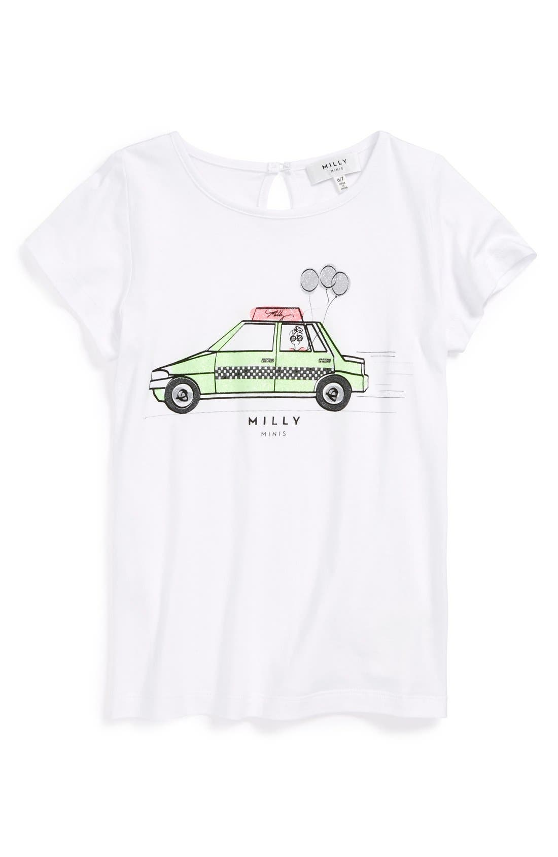 Main Image - Milly Minis Graphic Tee (Toddler Girls, Little Girls & Big Girls)
