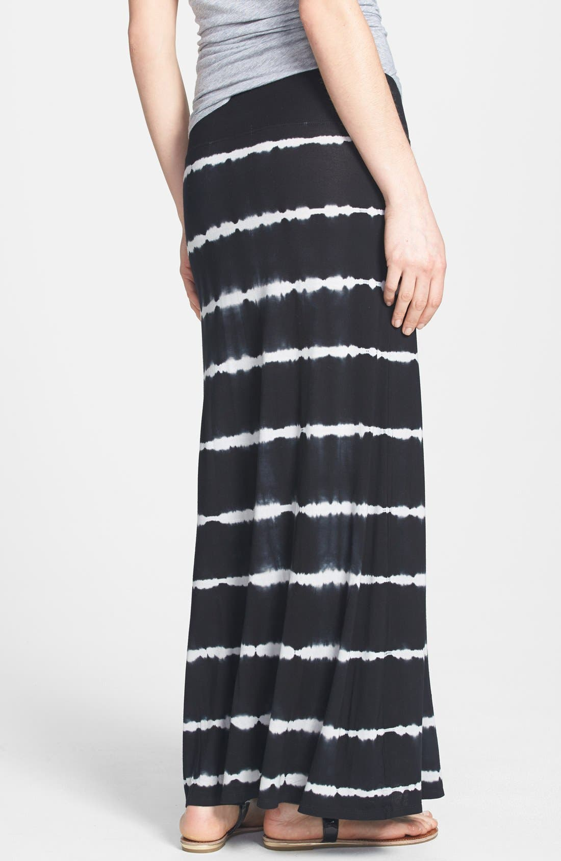 Alternate Image 2  - kensie Tie Dye Stretch Knit Maxi Skirt