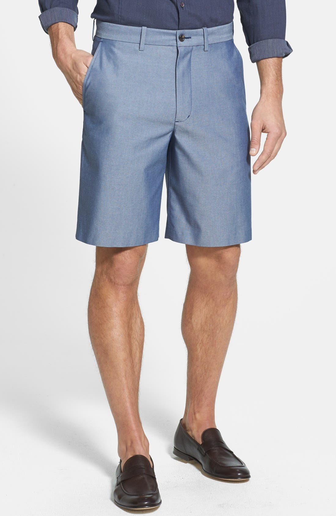 Alternate Image 1 Selected - John W. Nordstrom® Flat Front Supima® Cotton Shorts