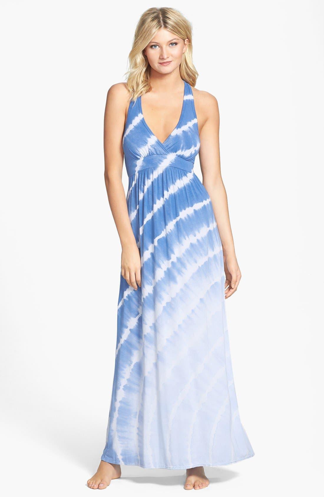 Alternate Image 1 Selected - Hard Tail Drop Back Maxi Dress
