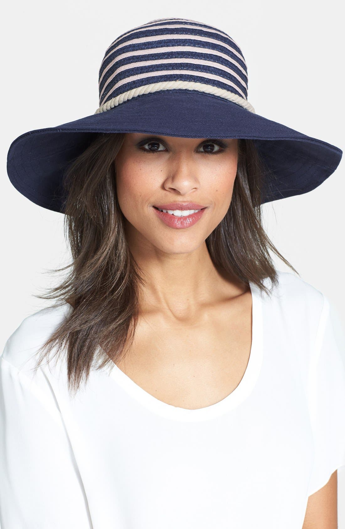 Alternate Image 1 Selected - Sperry Top-Sider® Stripe Floppy Hat