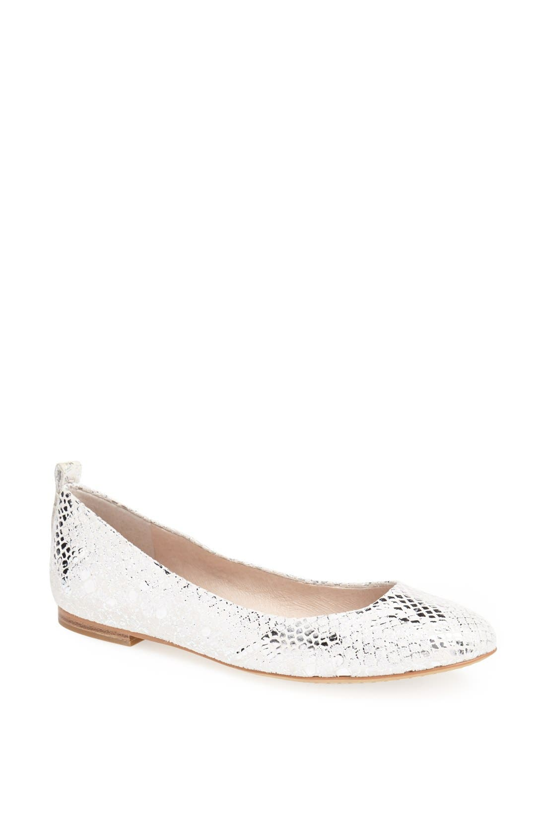 Main Image - Vince Camuto 'Benningly' Snake Embossed Metallic Leather Ballet Flat