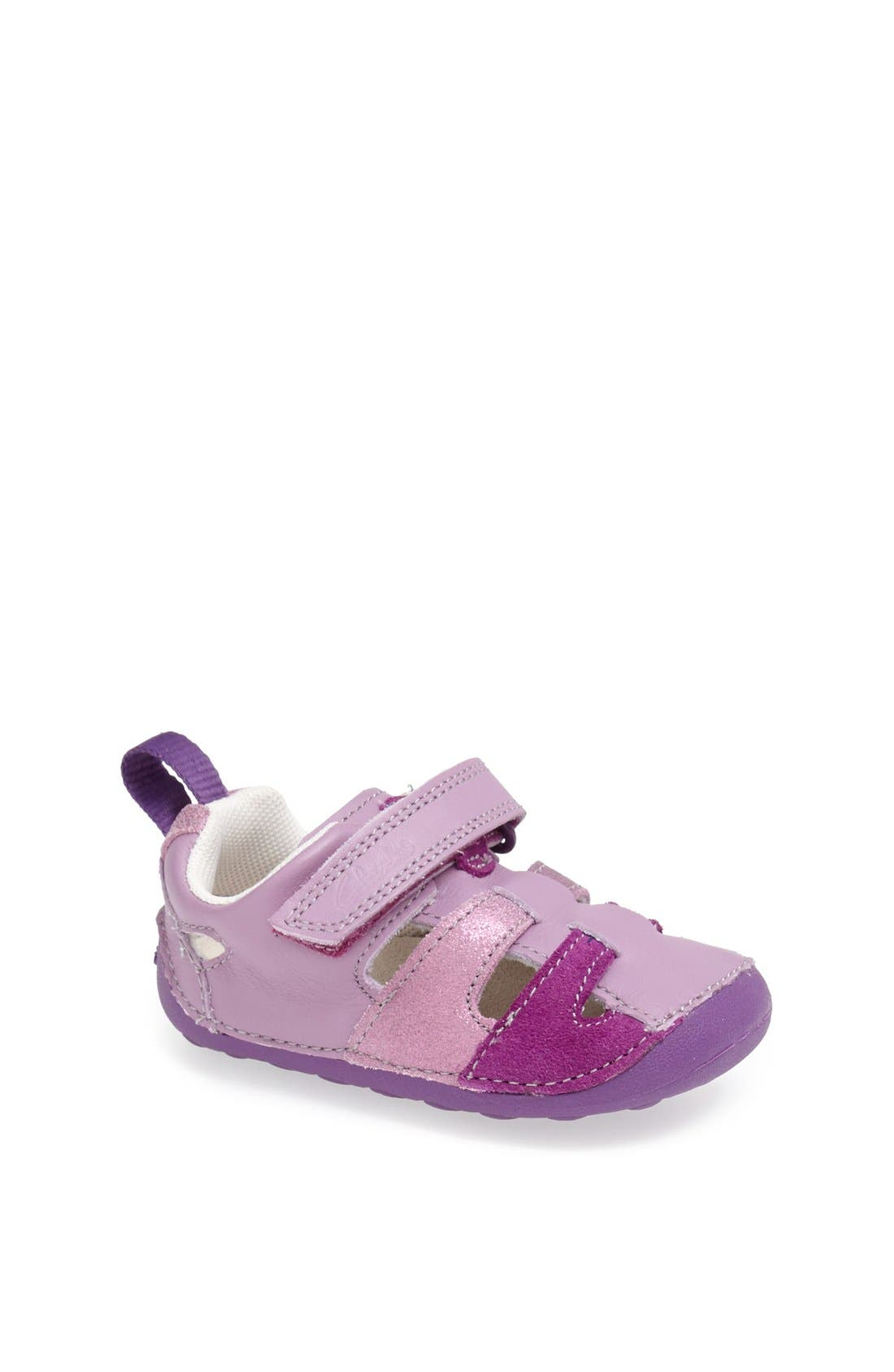 Alternate Image 1 Selected - Clarks® 'Tiny Girl' Leather Sandal (Baby & Walker)
